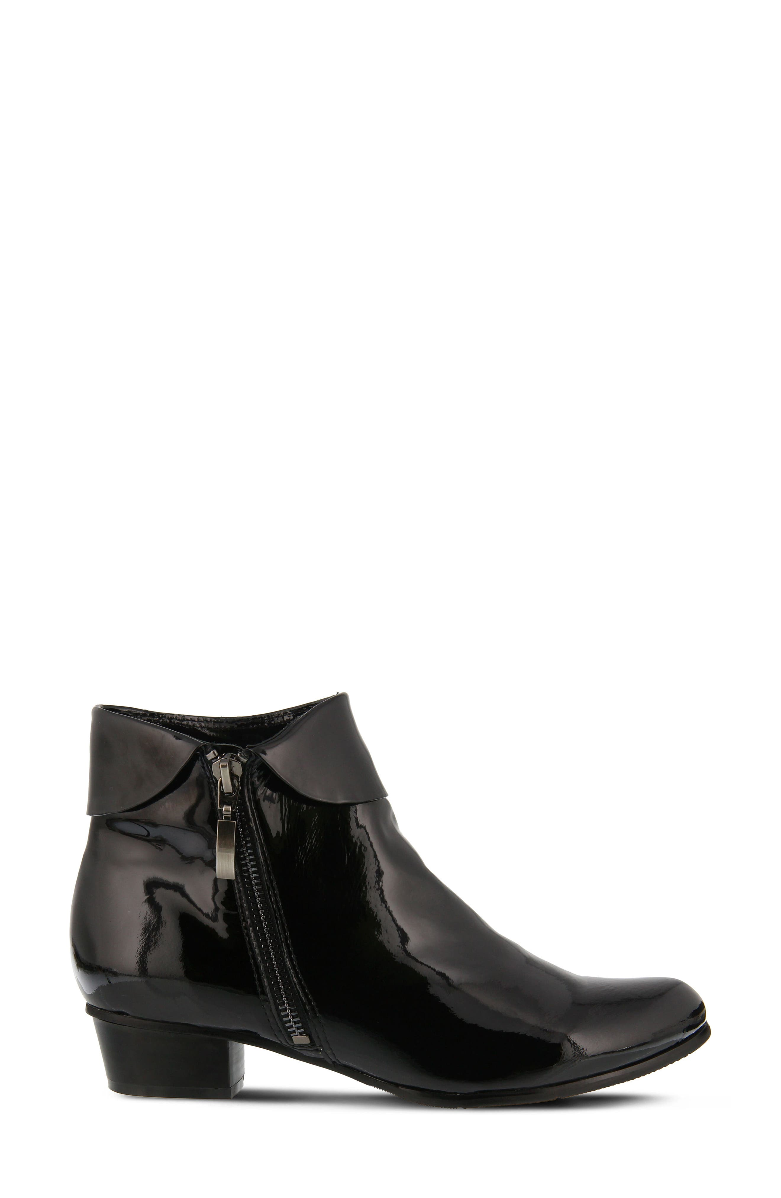 'Stockholm' Boot,                             Alternate thumbnail 3, color,                             Black Patent Leather