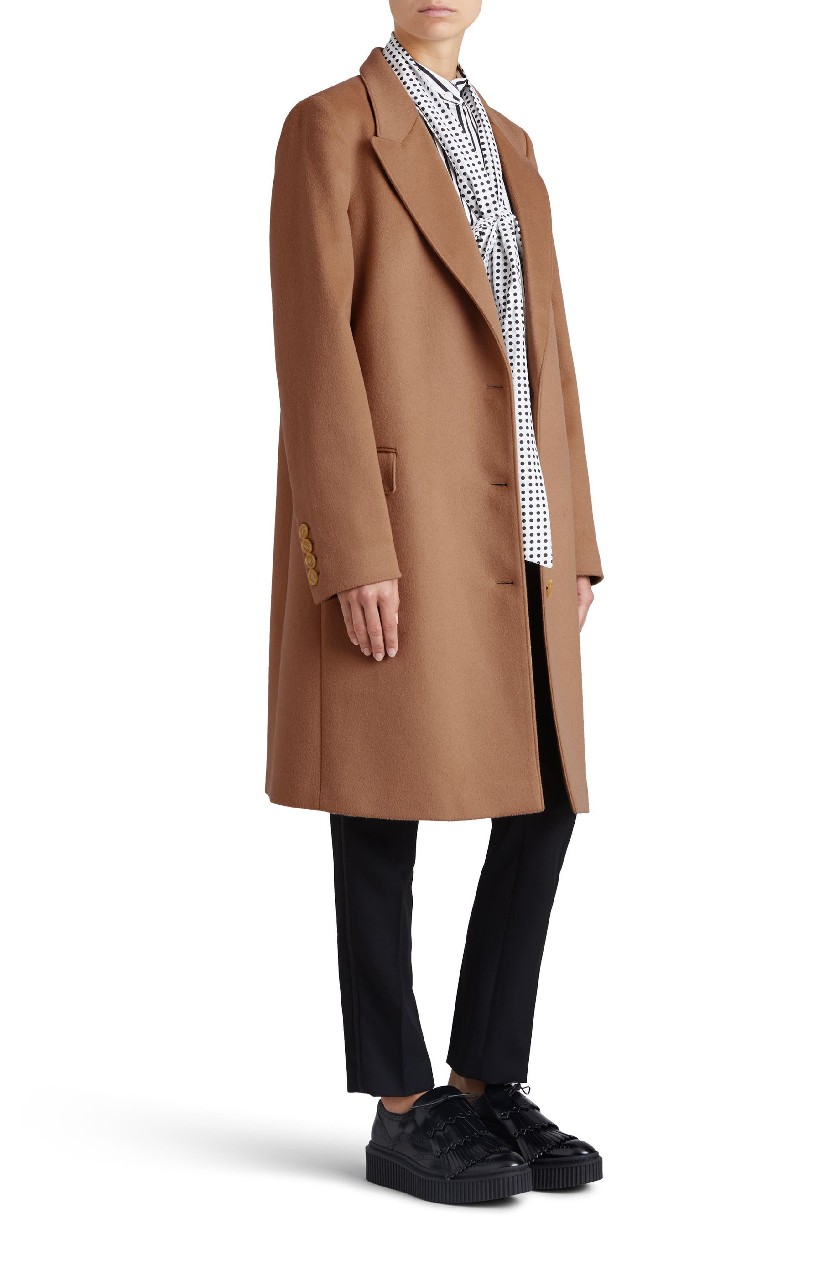 Fellhurst Wool & Cashmere Coat,                             Alternate thumbnail 4, color,                             Camel