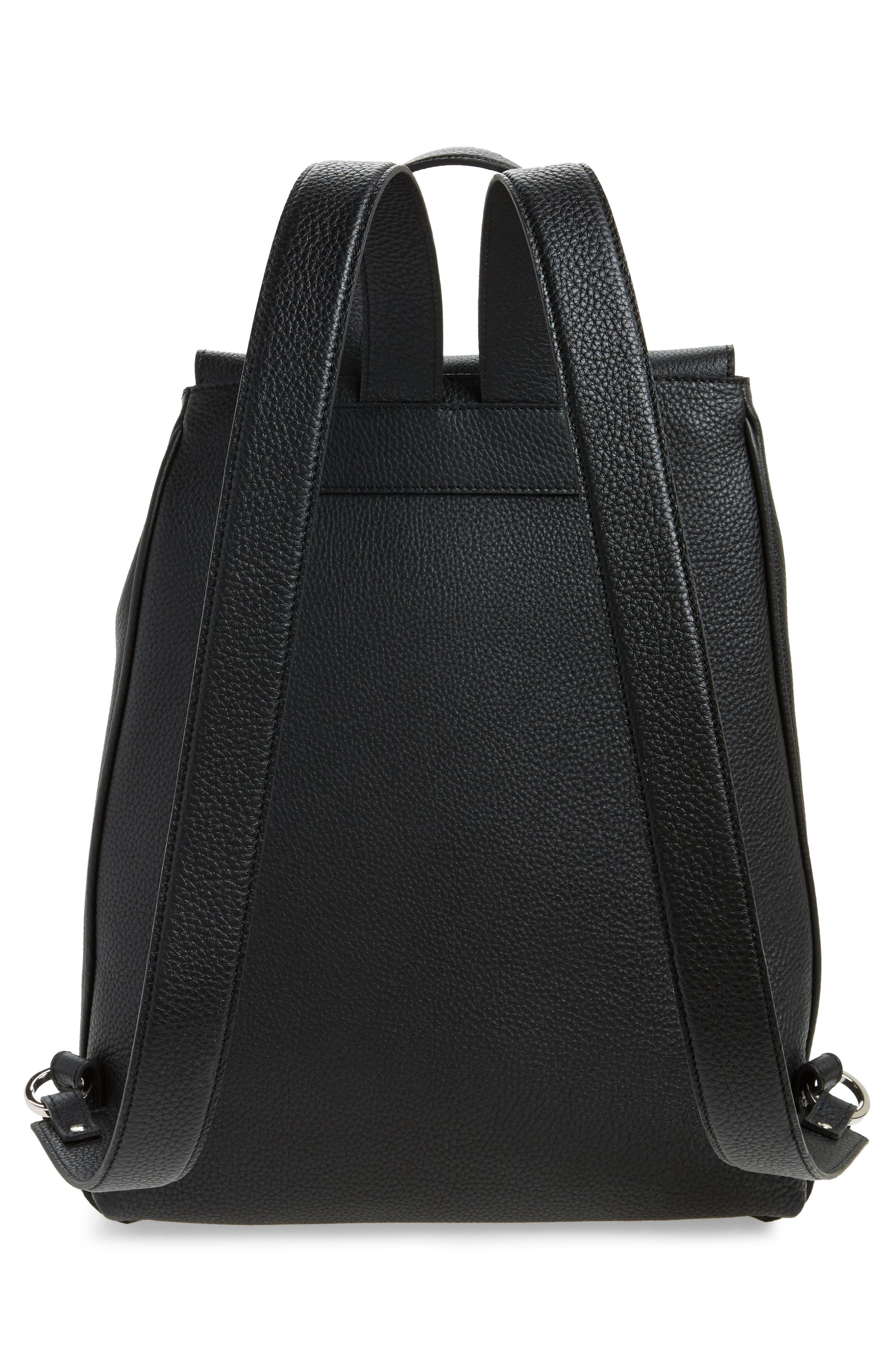 Carmen Cachemire Leather Backpack,                             Alternate thumbnail 3, color,                             Black