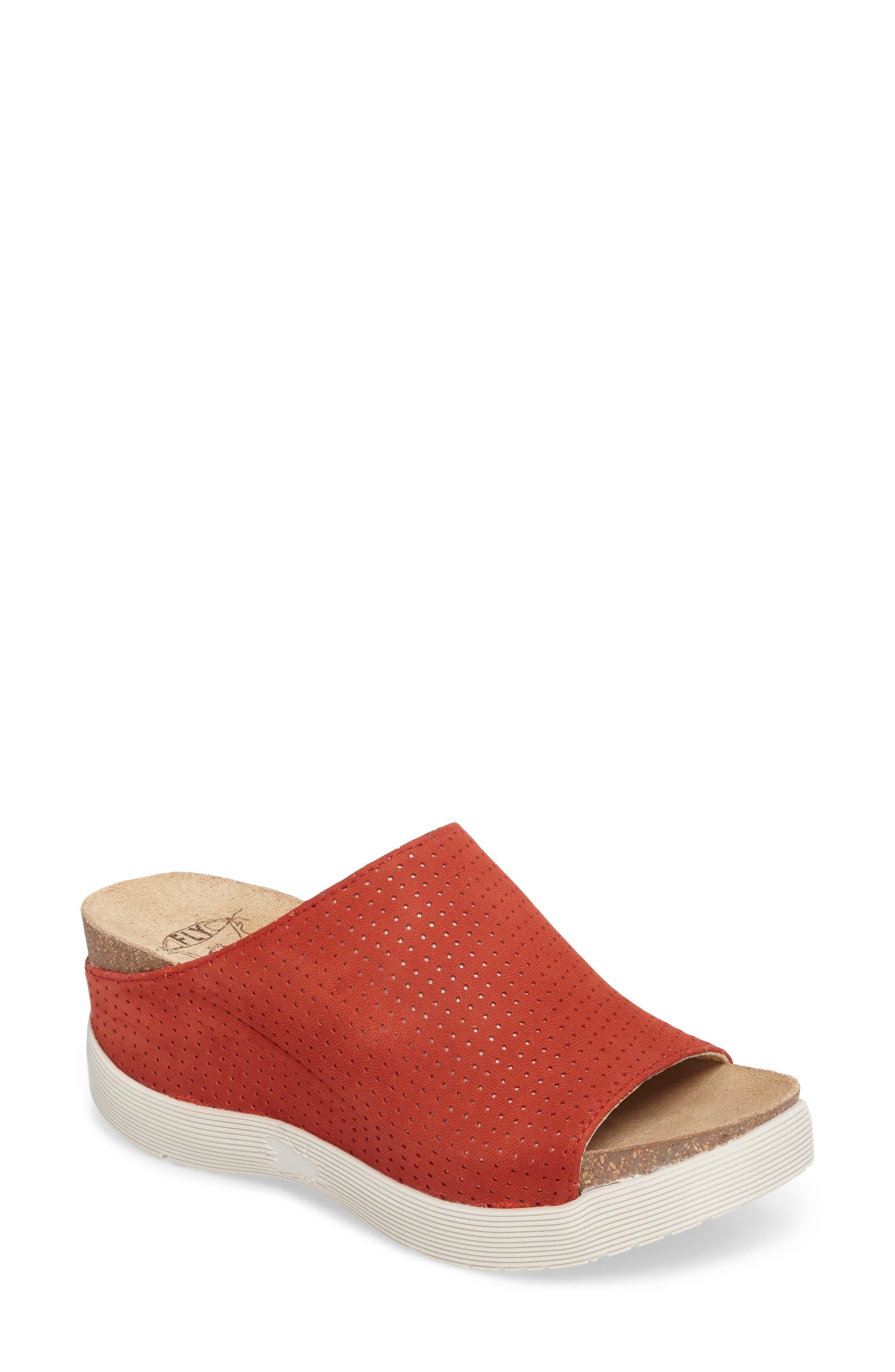 Whin Platform Sandal,                             Main thumbnail 1, color,                             Scarlet Cupido Leather