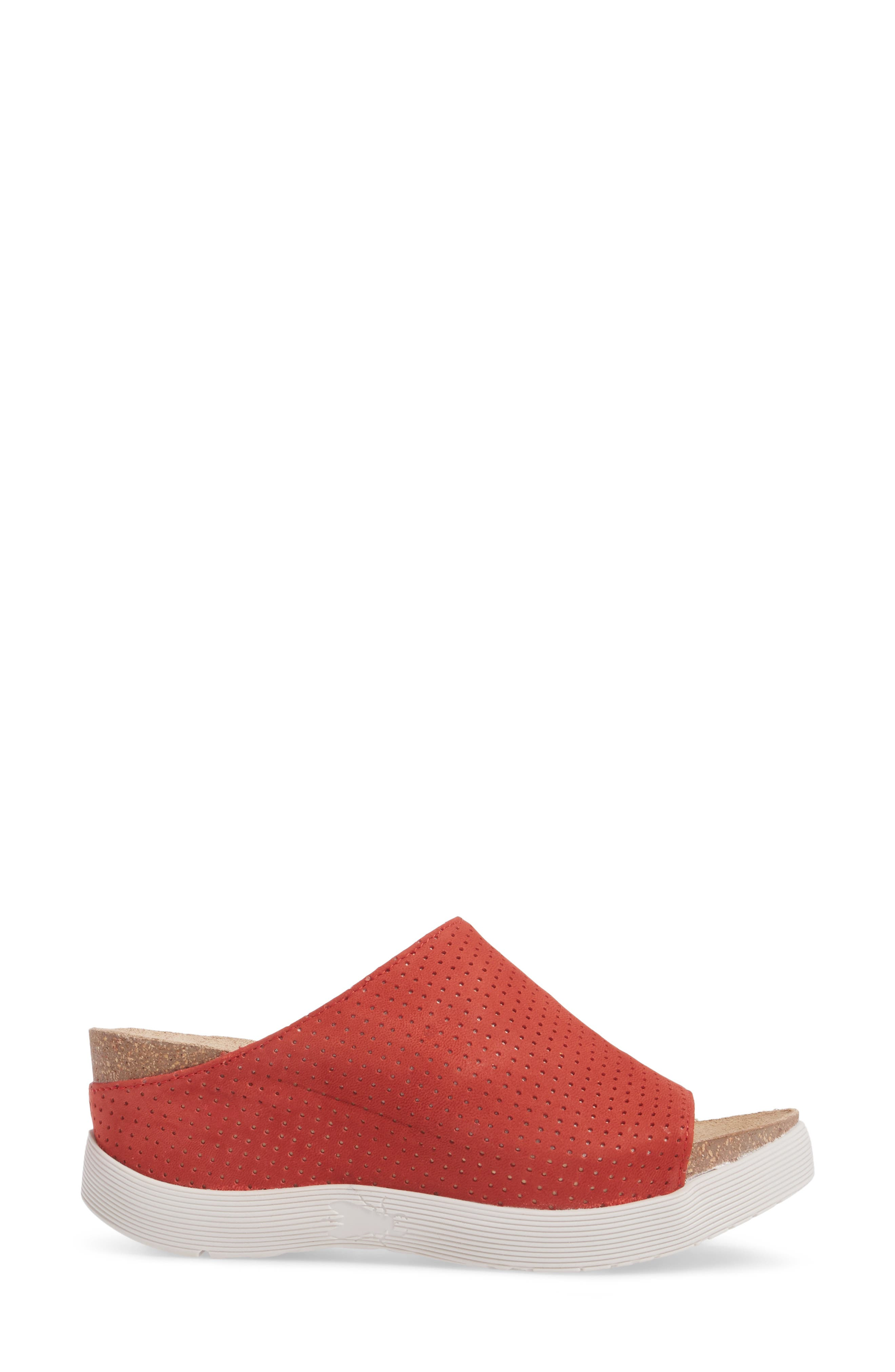 Whin Platform Sandal,                             Alternate thumbnail 3, color,                             Scarlet Cupido Leather