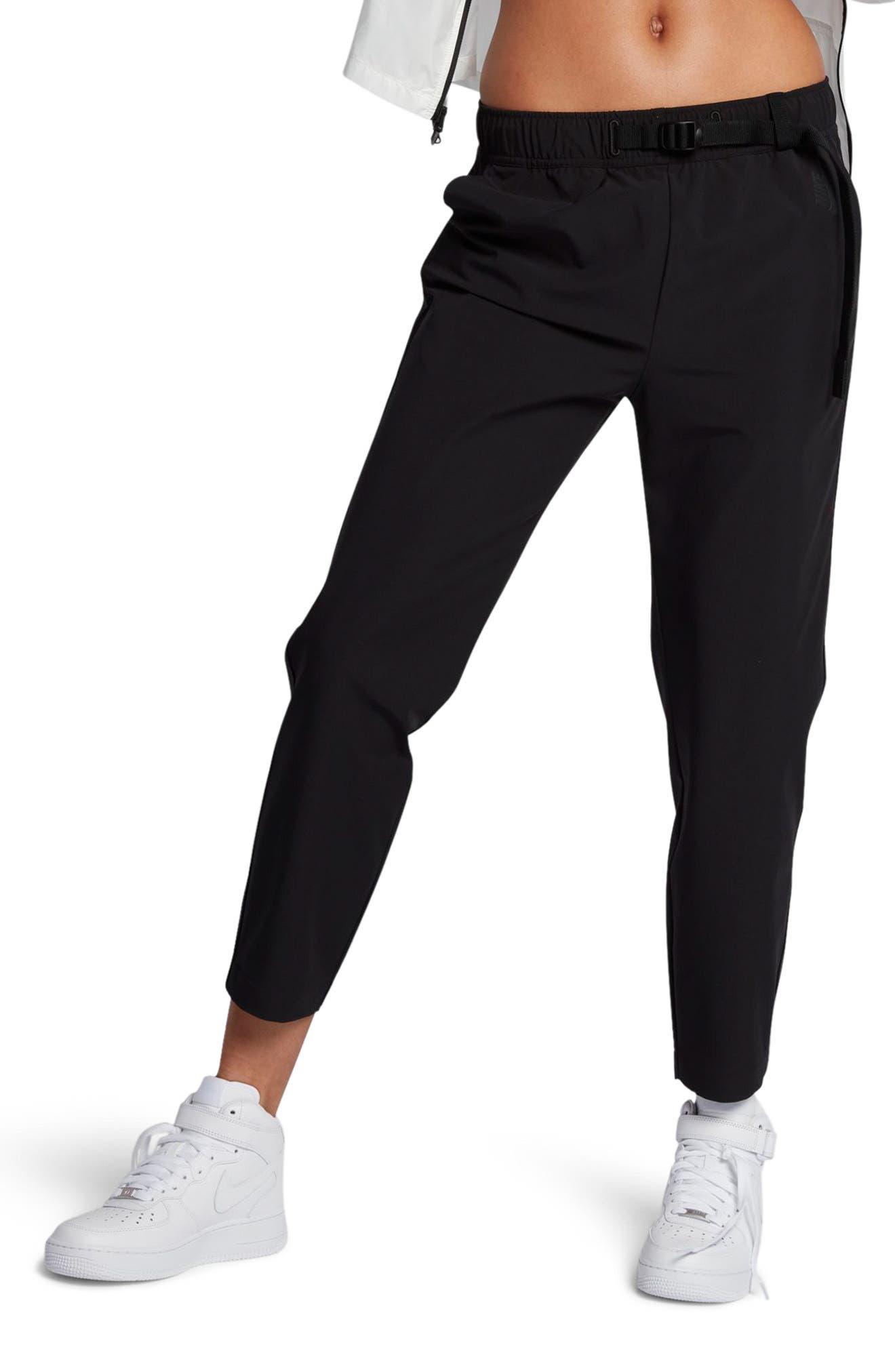 NikeLab Essentials Women's Stretch Woven Pants,                             Main thumbnail 1, color,                             Black/ Black