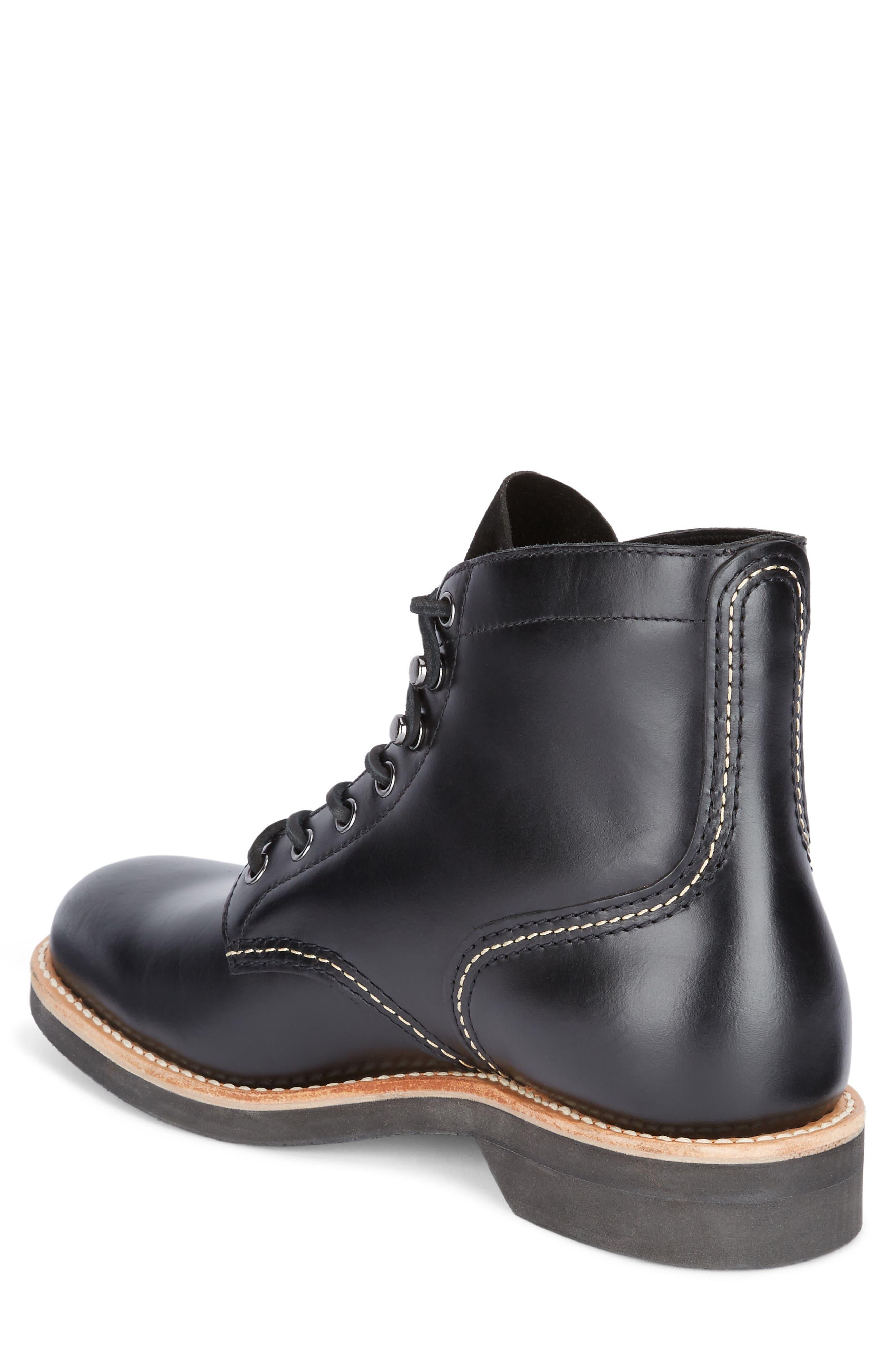 Reid Plain Toe Boot,                             Alternate thumbnail 2, color,                             Black