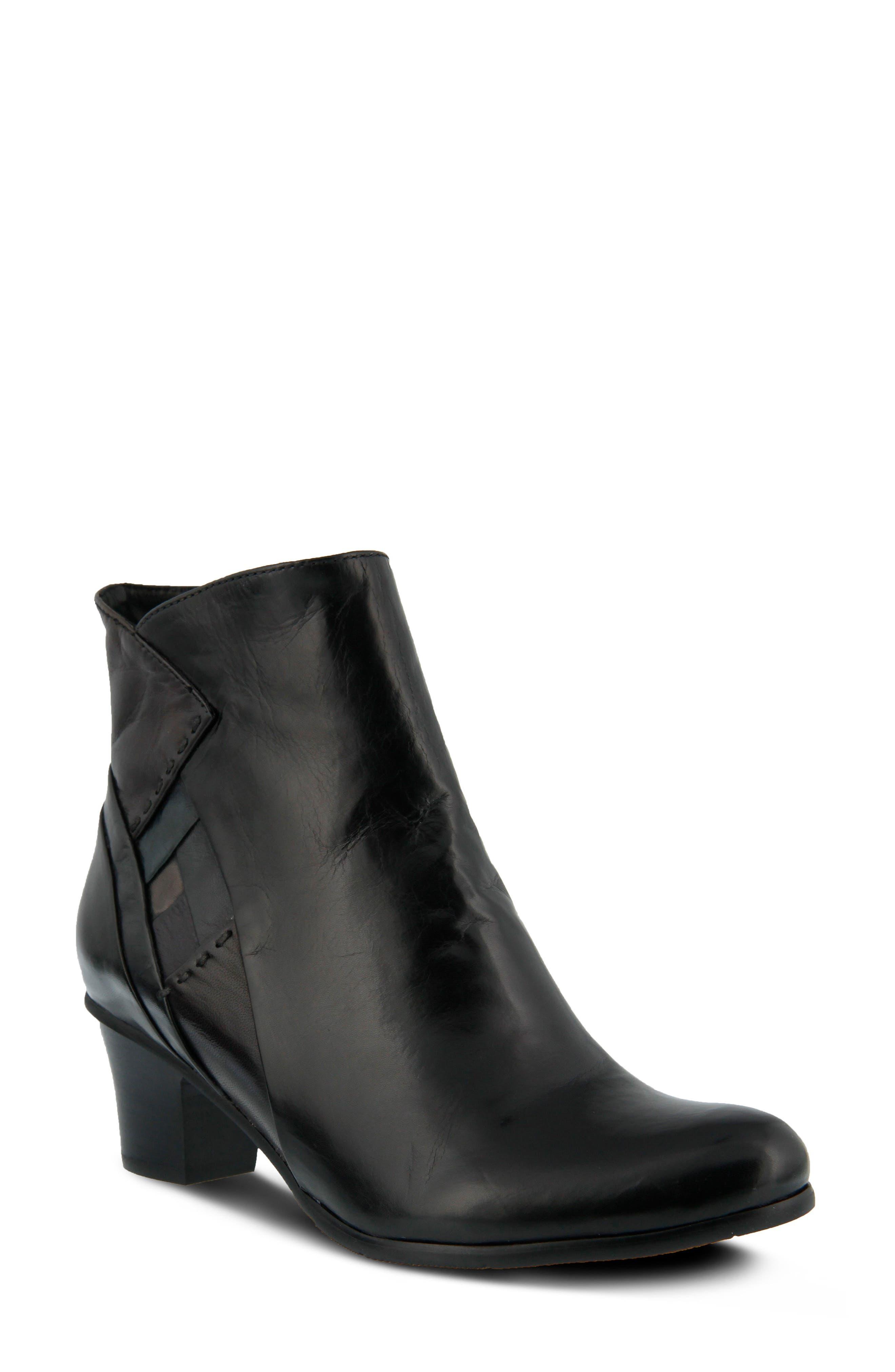 Gaspar Bootie,                             Main thumbnail 1, color,                             Black Multi Leather