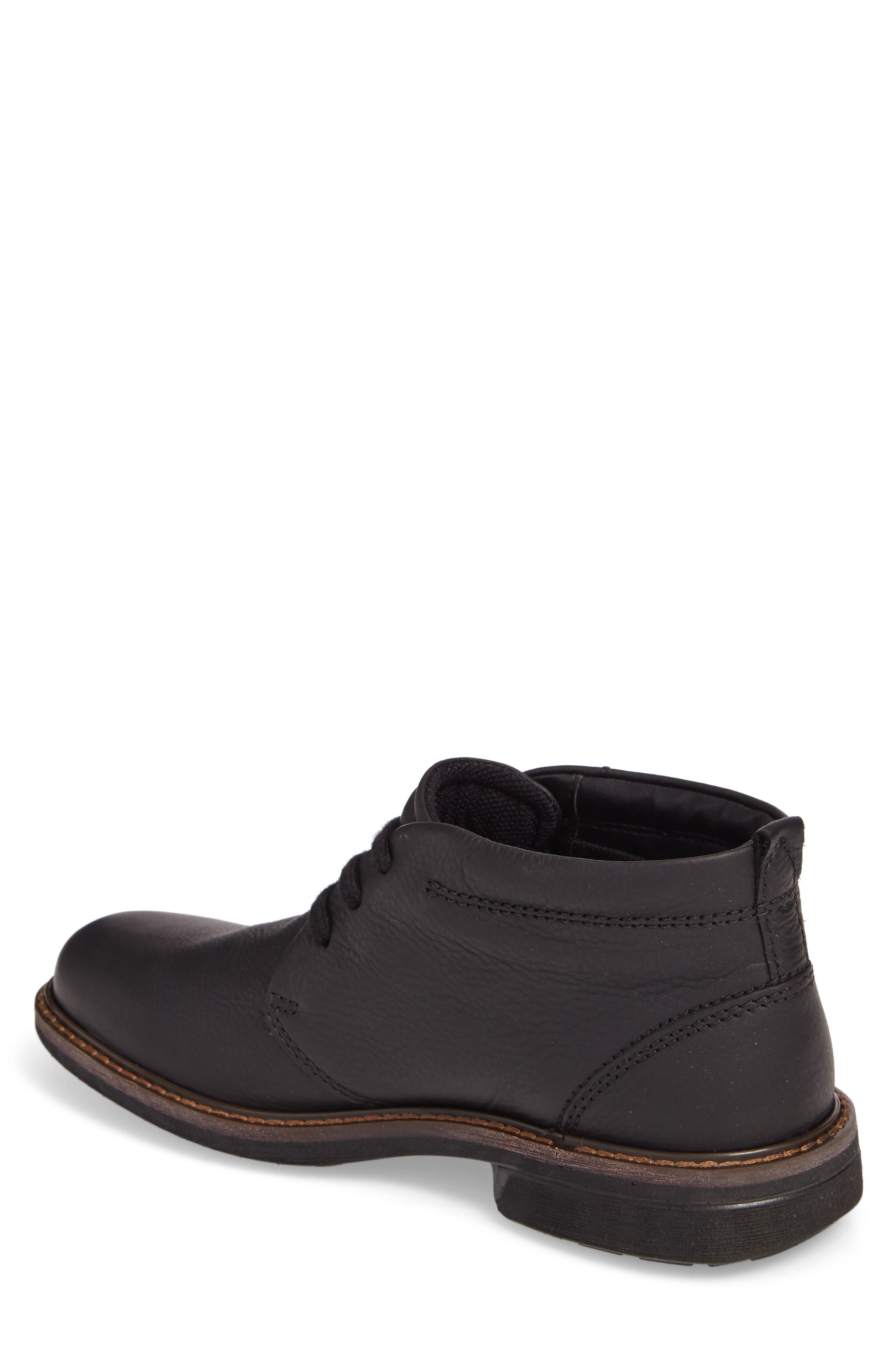 Turn Gore-Tex<sup>®</sup> Waterproof Chukka Boot,                             Alternate thumbnail 2, color,                             Black Nubuck