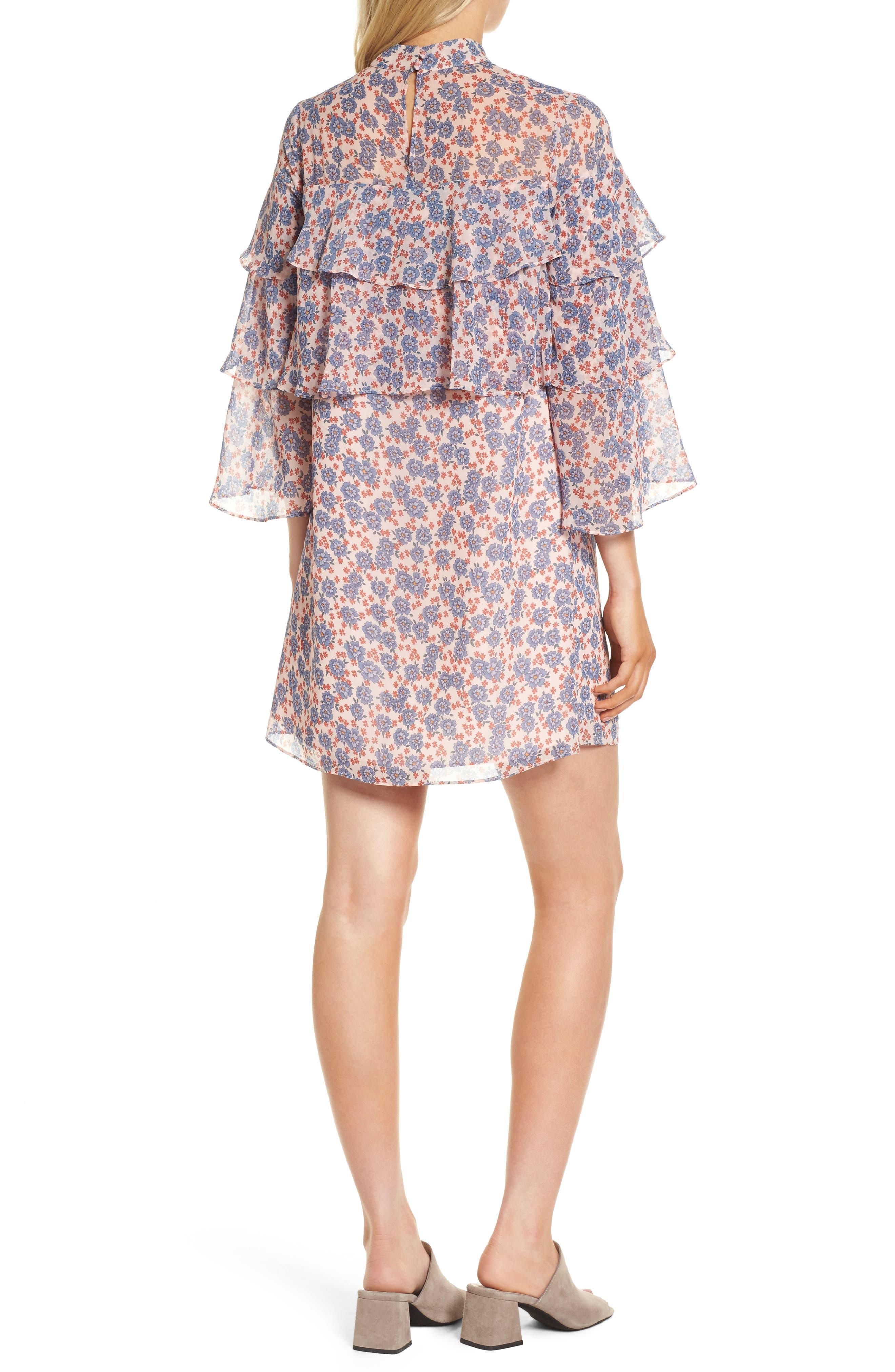 Darcy Ruffle Dress,                             Alternate thumbnail 2, color,                             Pink Multi