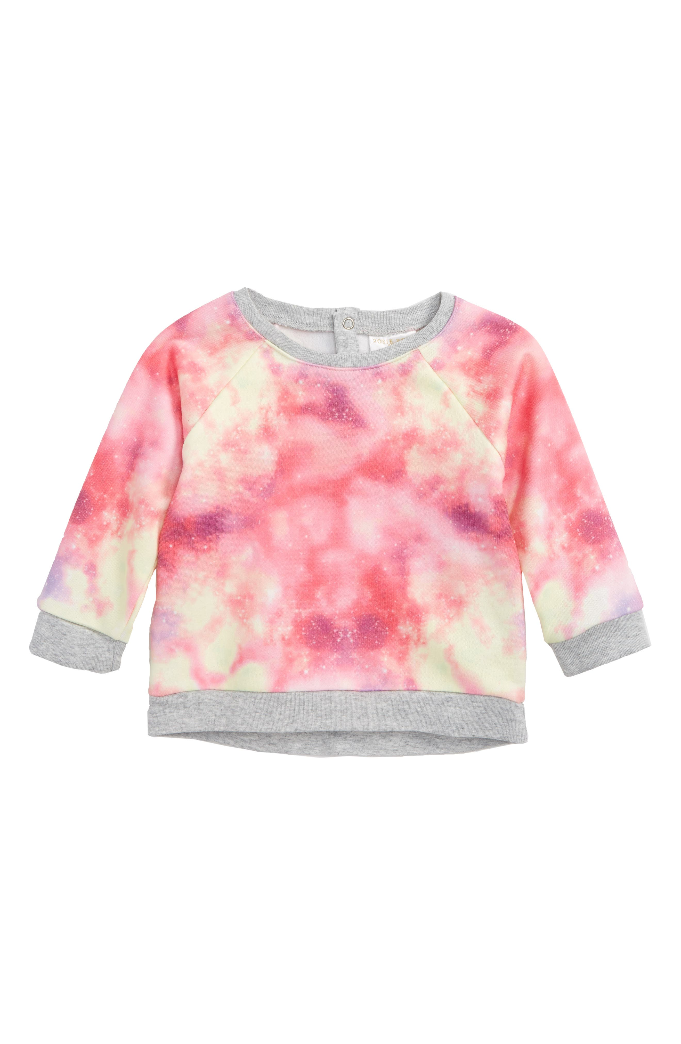 Rosie Pope Out of this World Print Sweatshirt (Baby Girls)