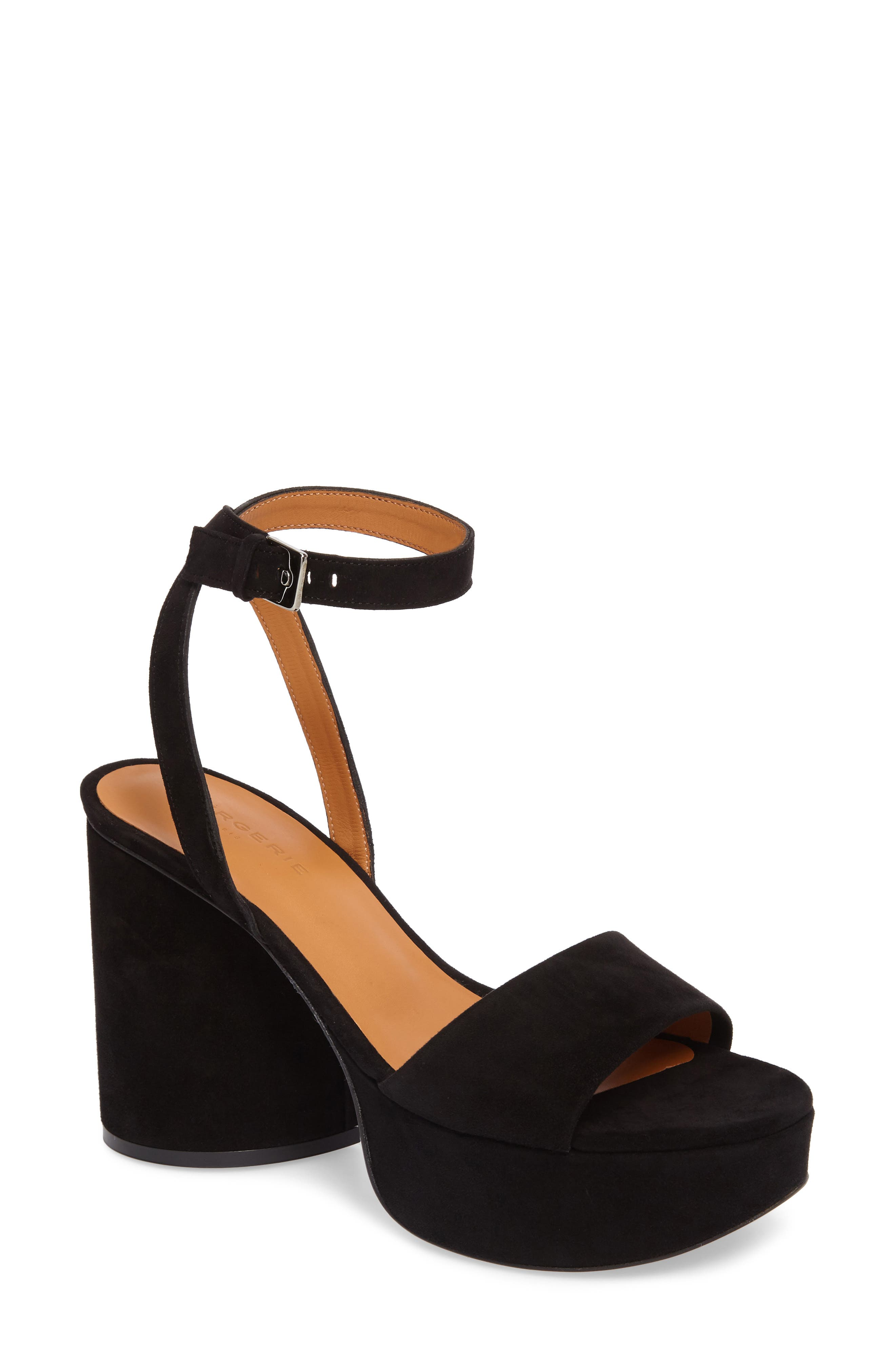 Vionica Platform Ankle Strap Sandal,                         Main,                         color, Black
