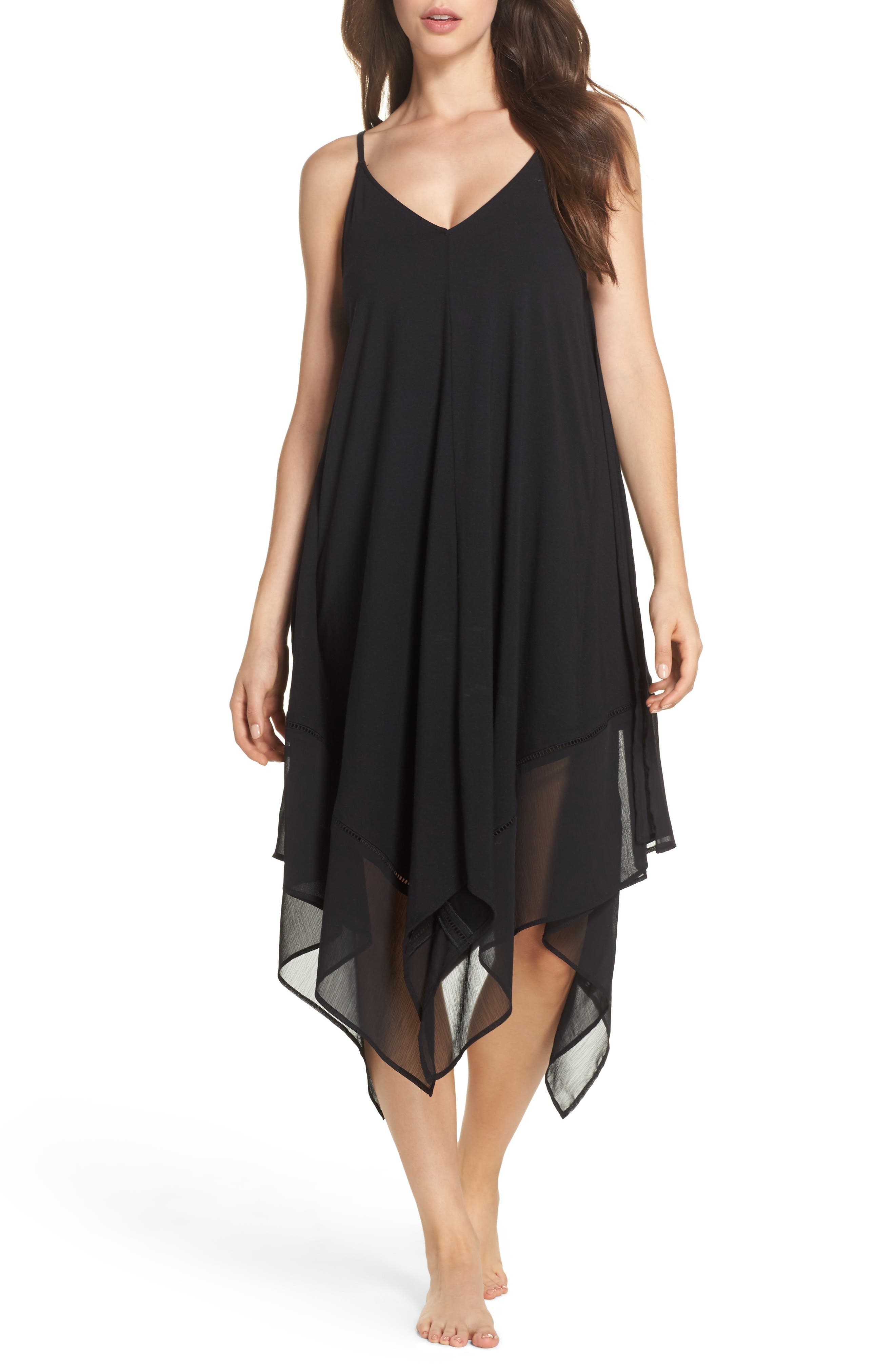 Cover-Up Scarf Dress,                             Main thumbnail 1, color,                             Black