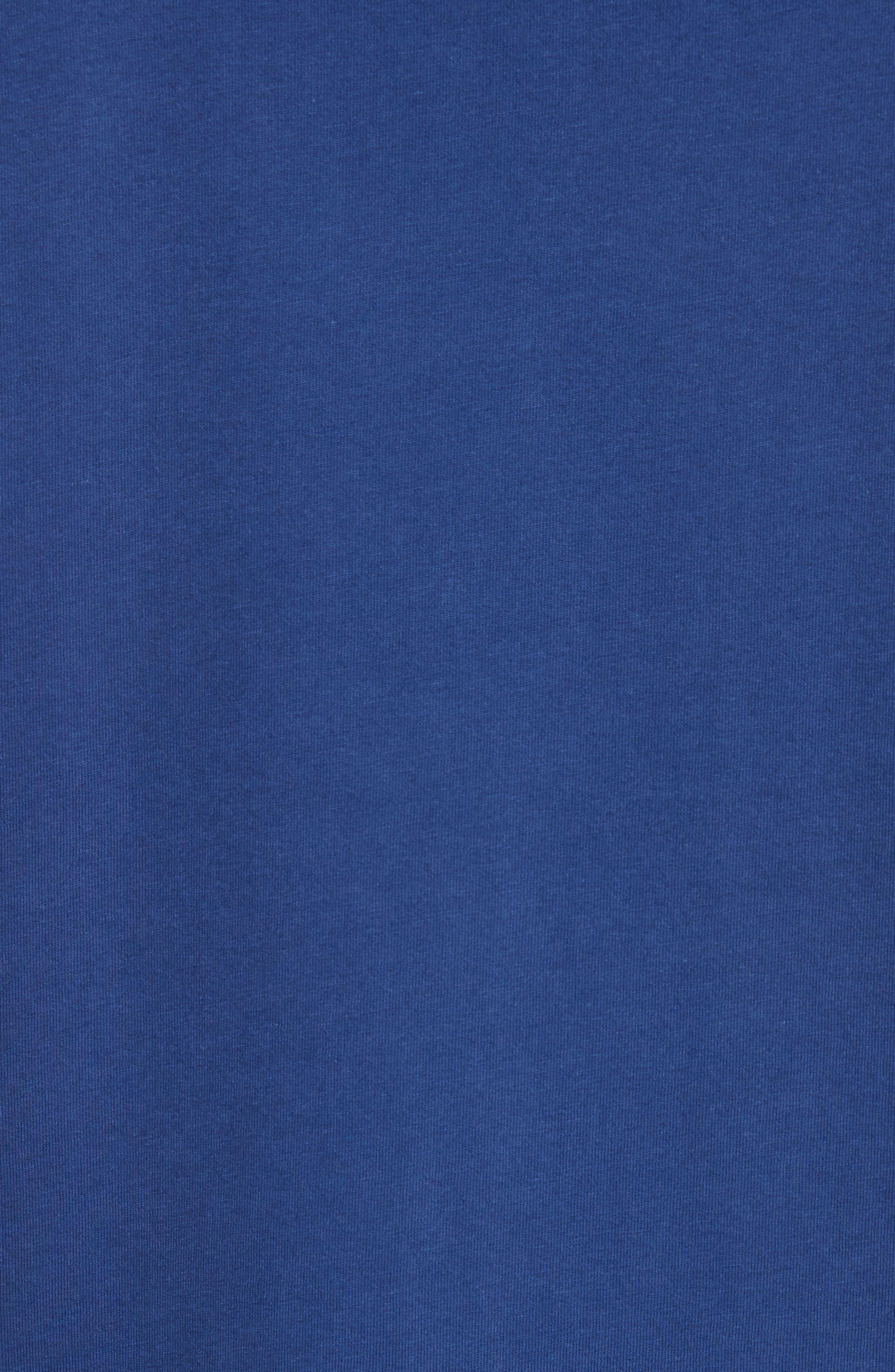 Zebra Logo T-Shirt,                             Alternate thumbnail 5, color,                             Blue