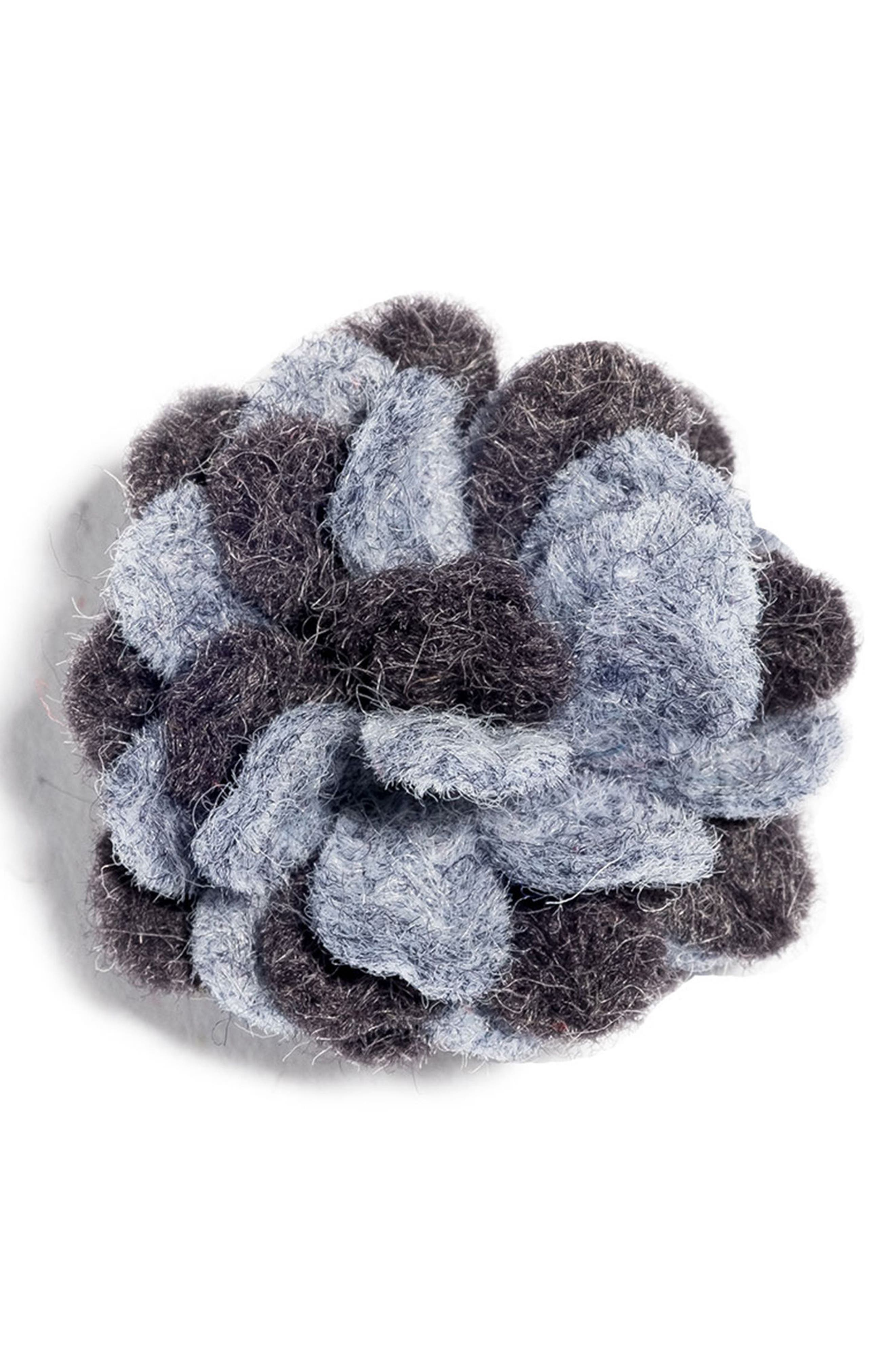 Felt Lapel Flower,                         Main,                         color, Grey