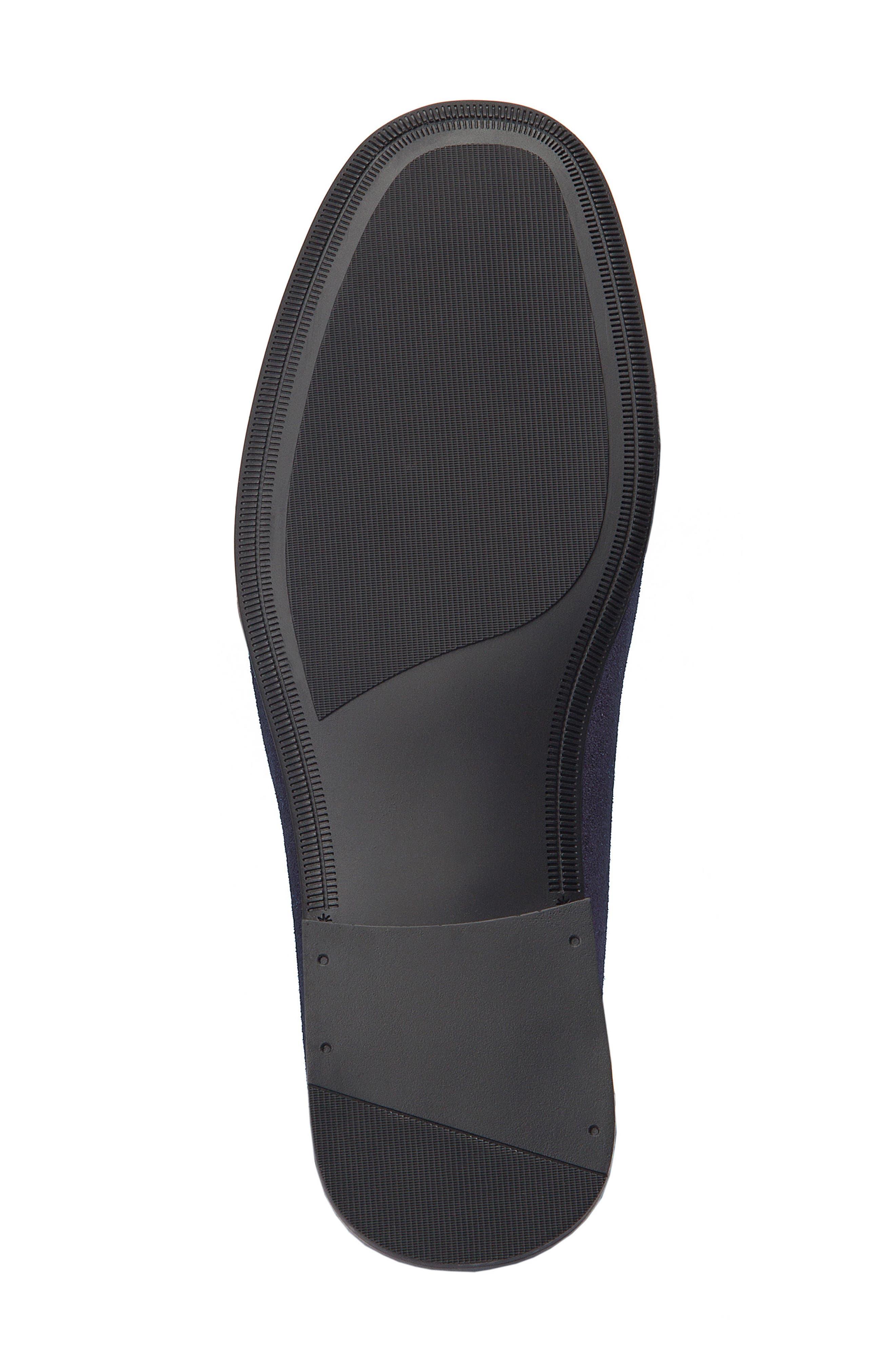 Hojas Tassel Loafer,                             Alternate thumbnail 6, color,                             Navy Leather
