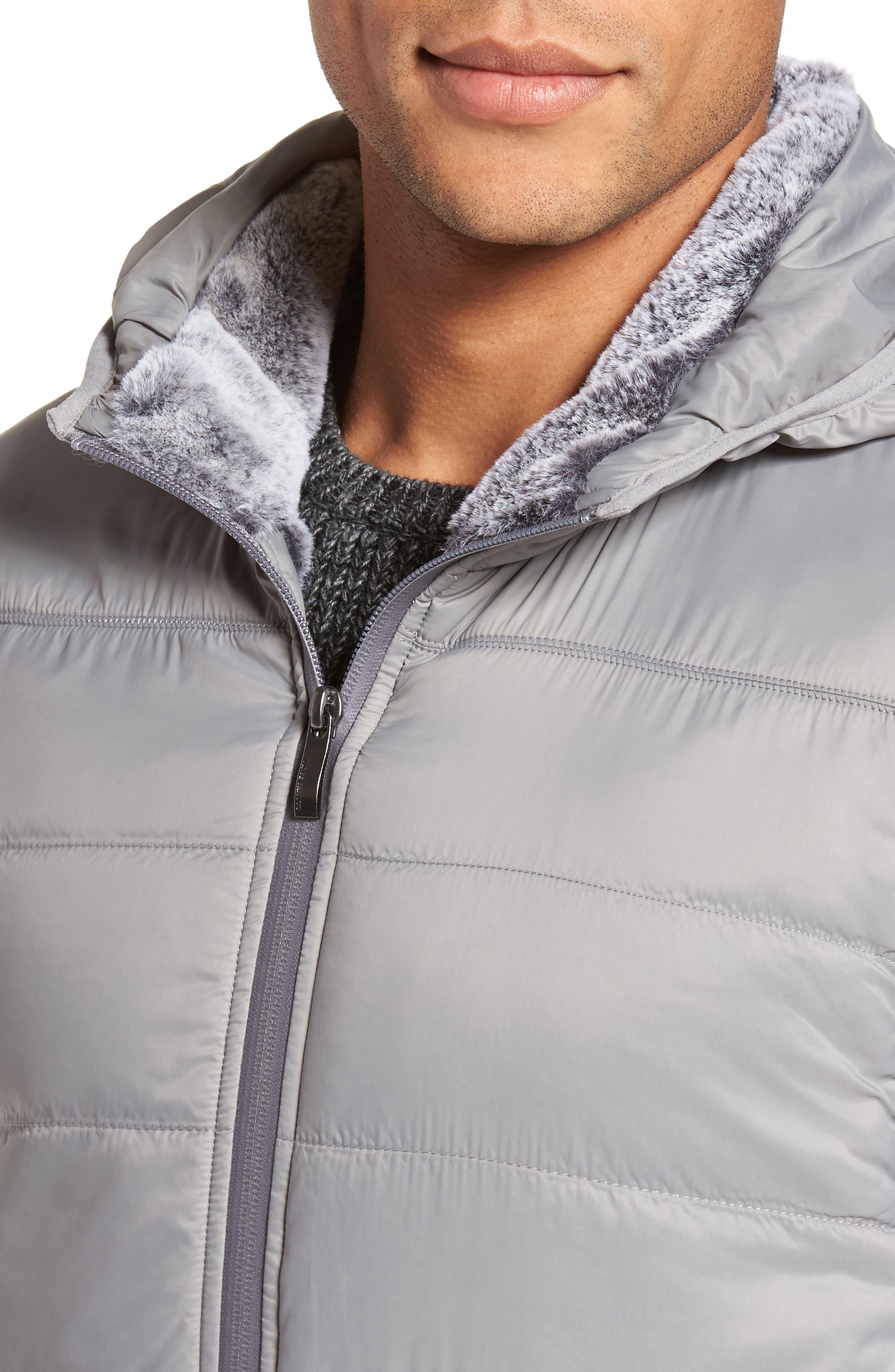 Hooded Vest,                             Alternate thumbnail 4, color,                             Silver