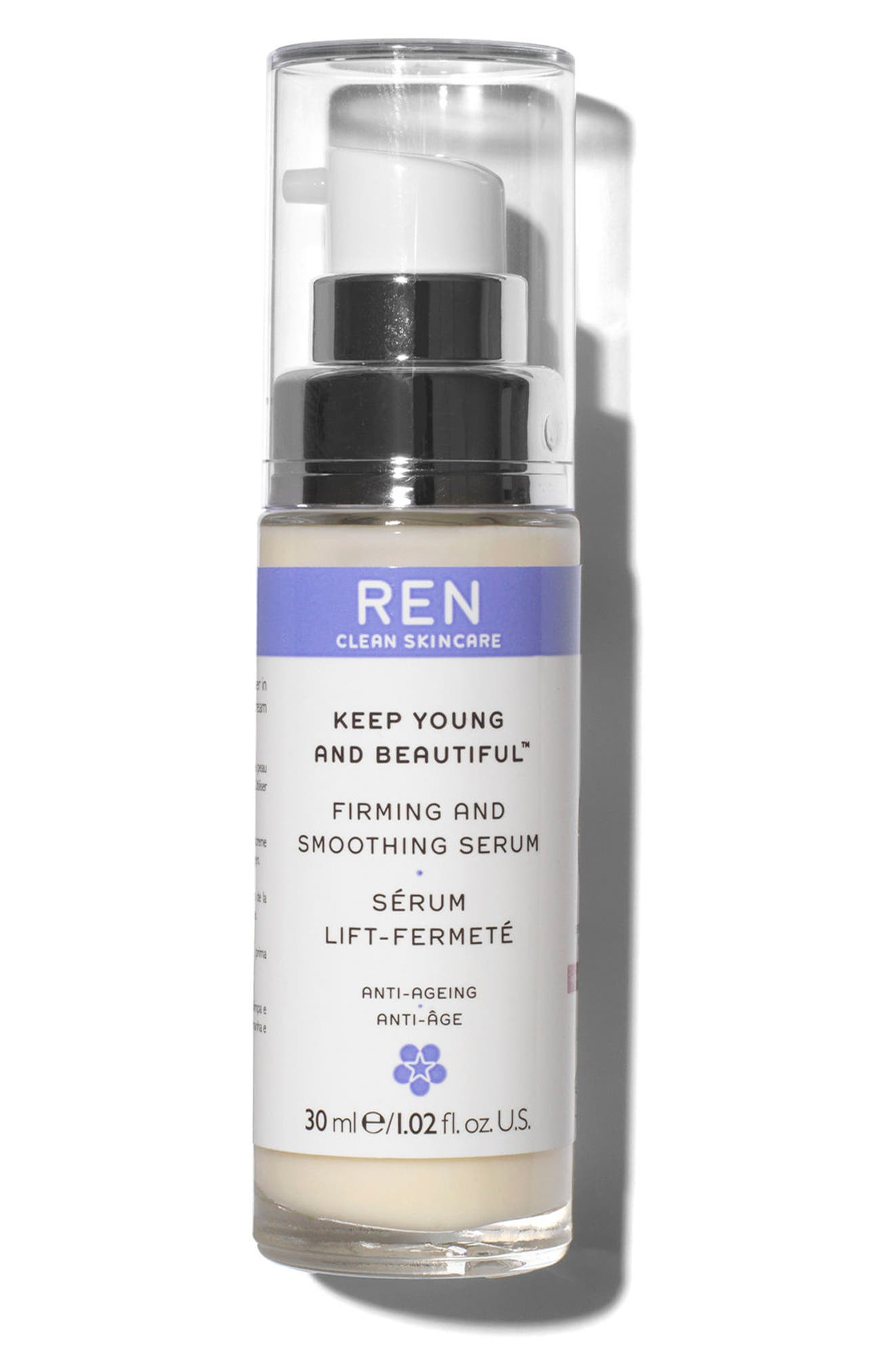 SPACE.NK.apothecary REN Keep Young and Beautiful Firming and Smoothing Serum,                             Main thumbnail 1, color,                             No Color