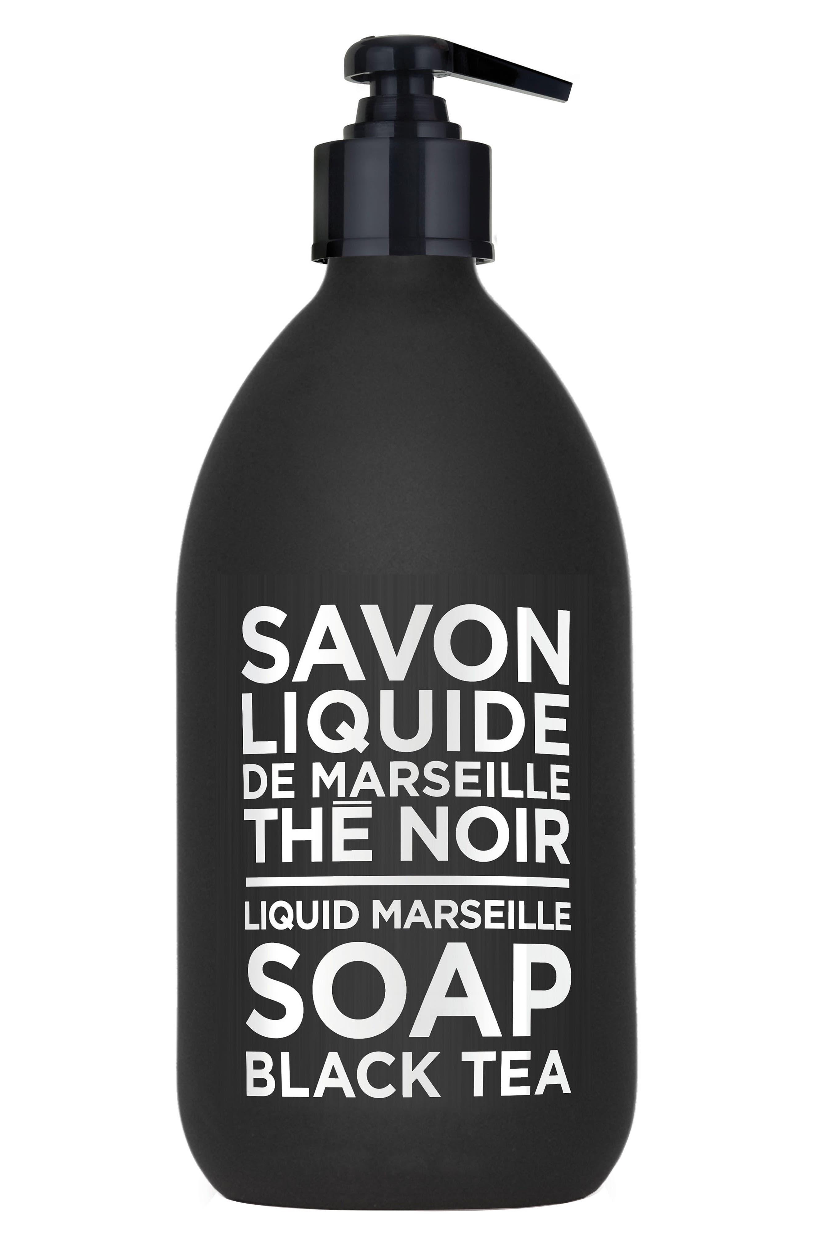 Black Tea Liquid Marseille Soap,                             Main thumbnail 1, color,                             No Color