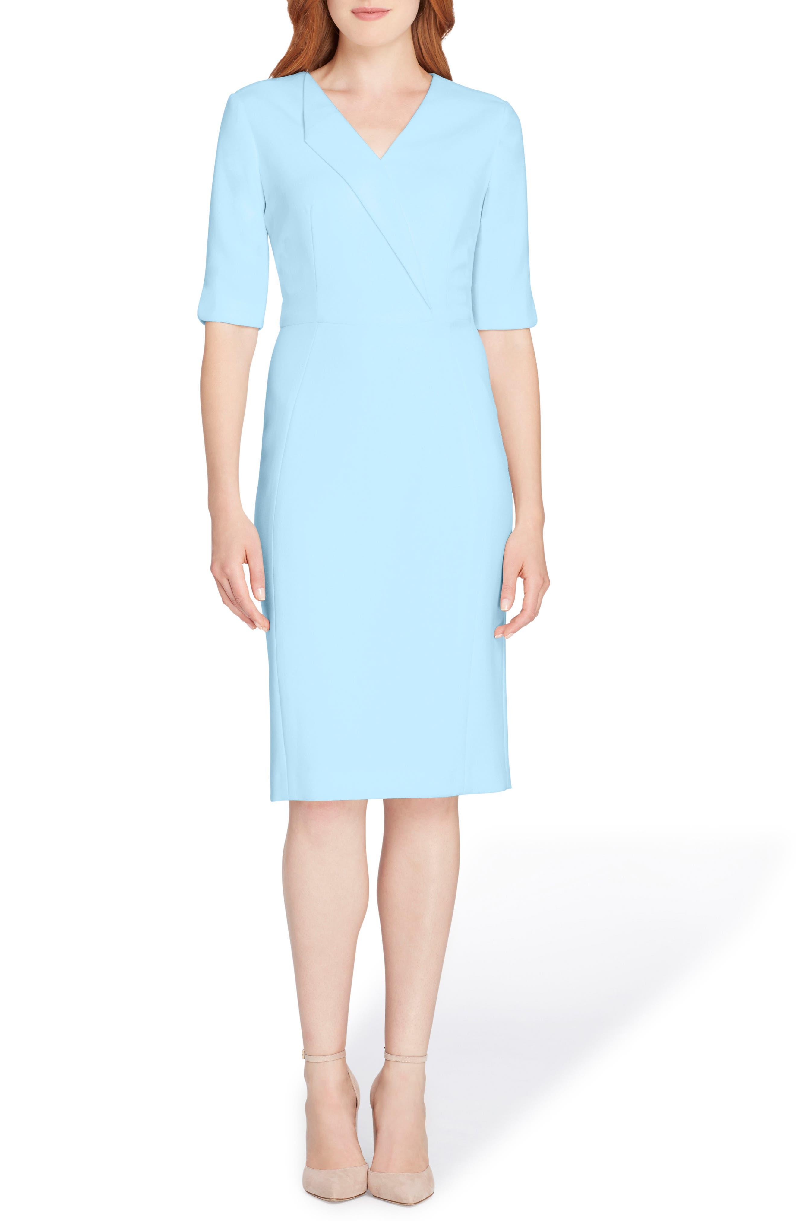 Main Image - Tahari Envelope Neck Sheath Dress