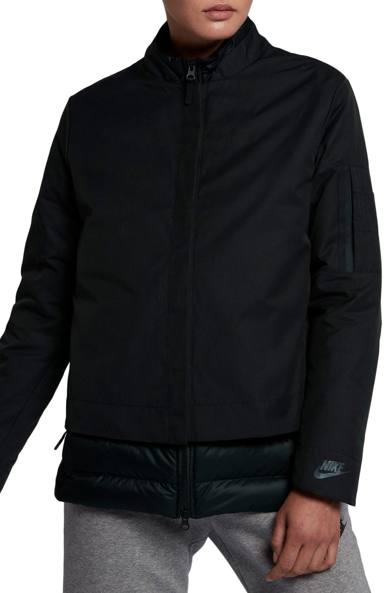 Sportswear AeroLoft 3-in-1 Down Jacket,                             Main thumbnail 1, color,                             Black/ Black/ Black