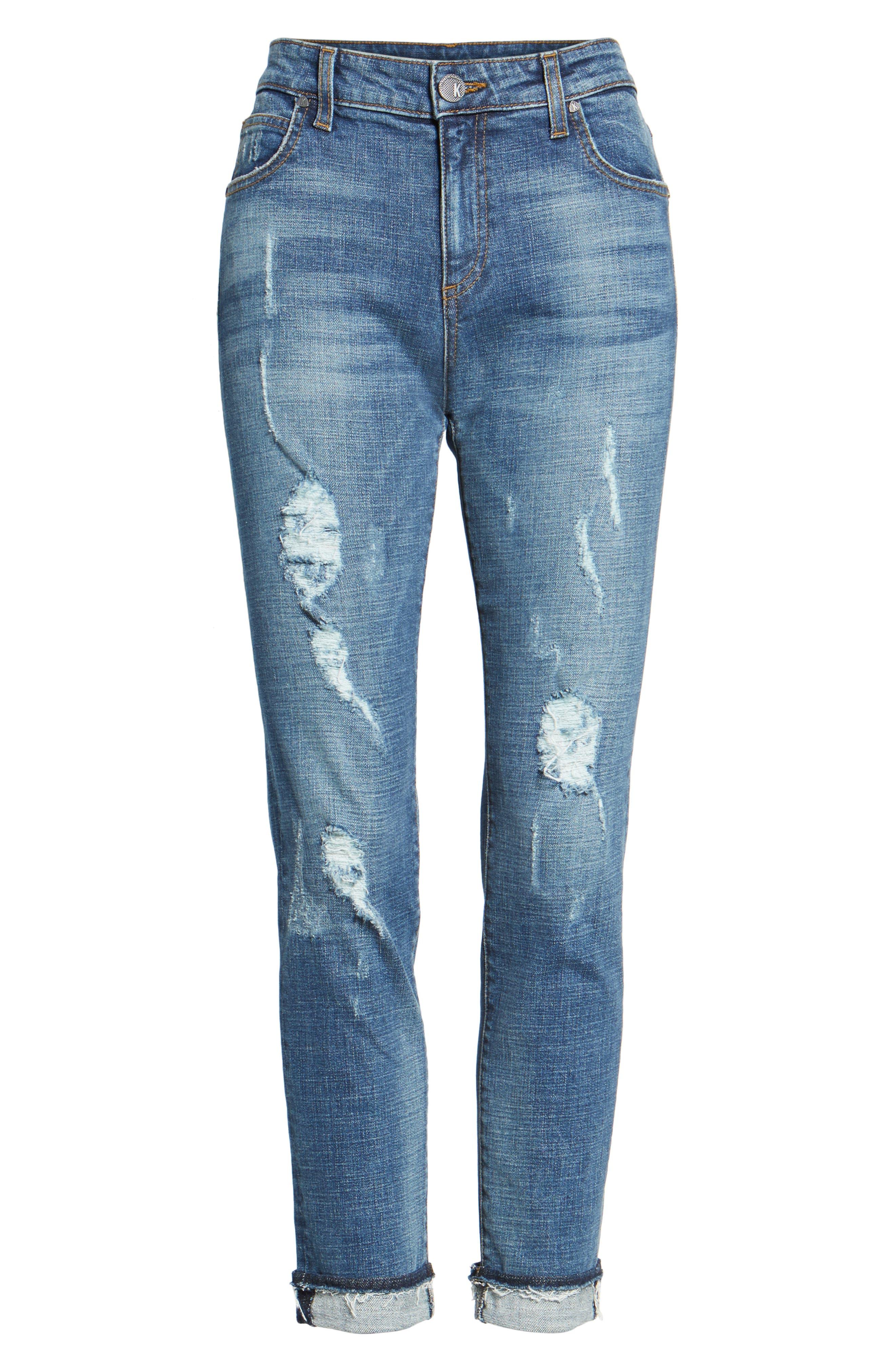 Uma Boyfriend Jeans,                             Alternate thumbnail 4, color,                             Livened