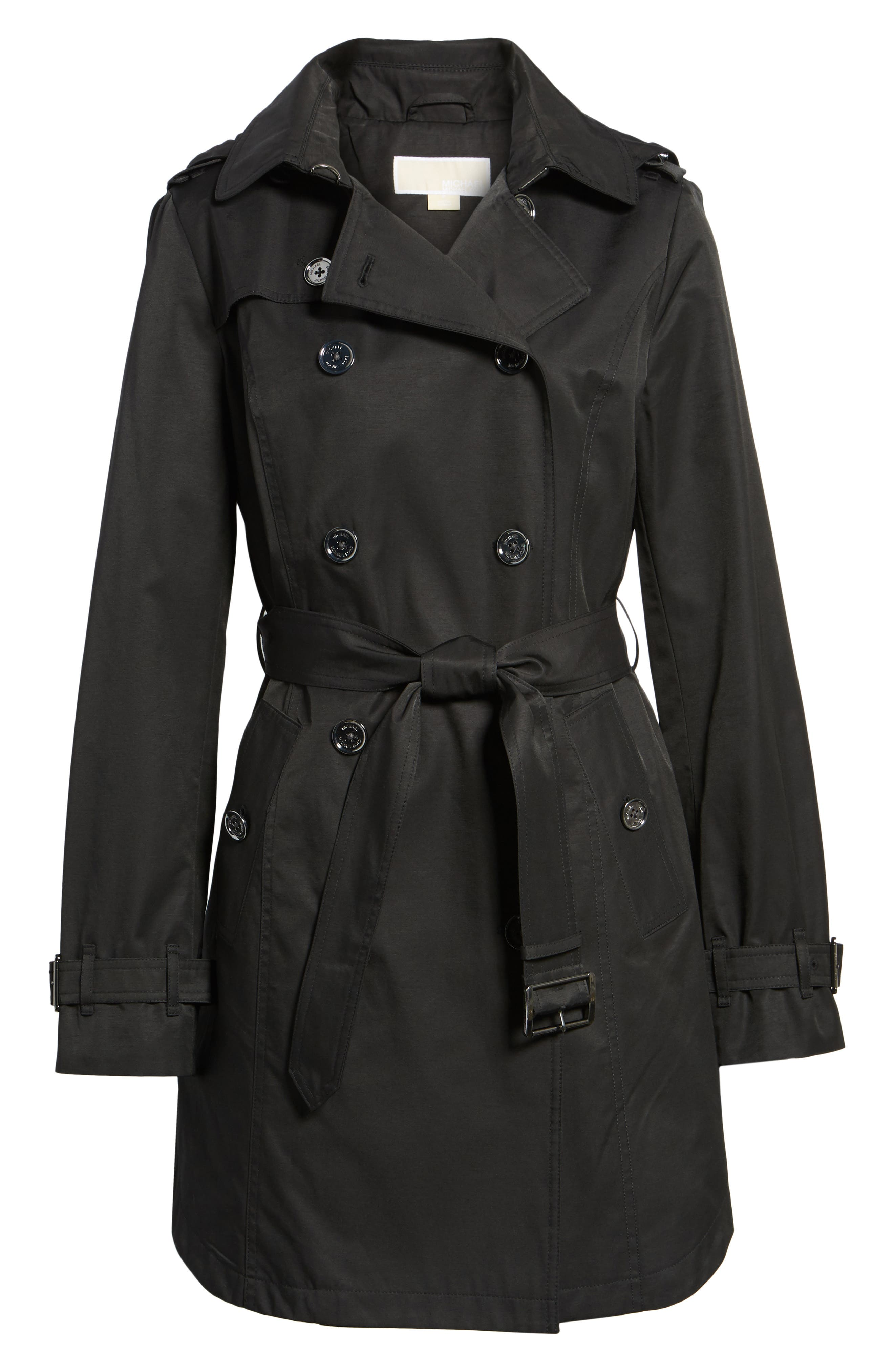 Trench Coat,                         Main,                         color, Black