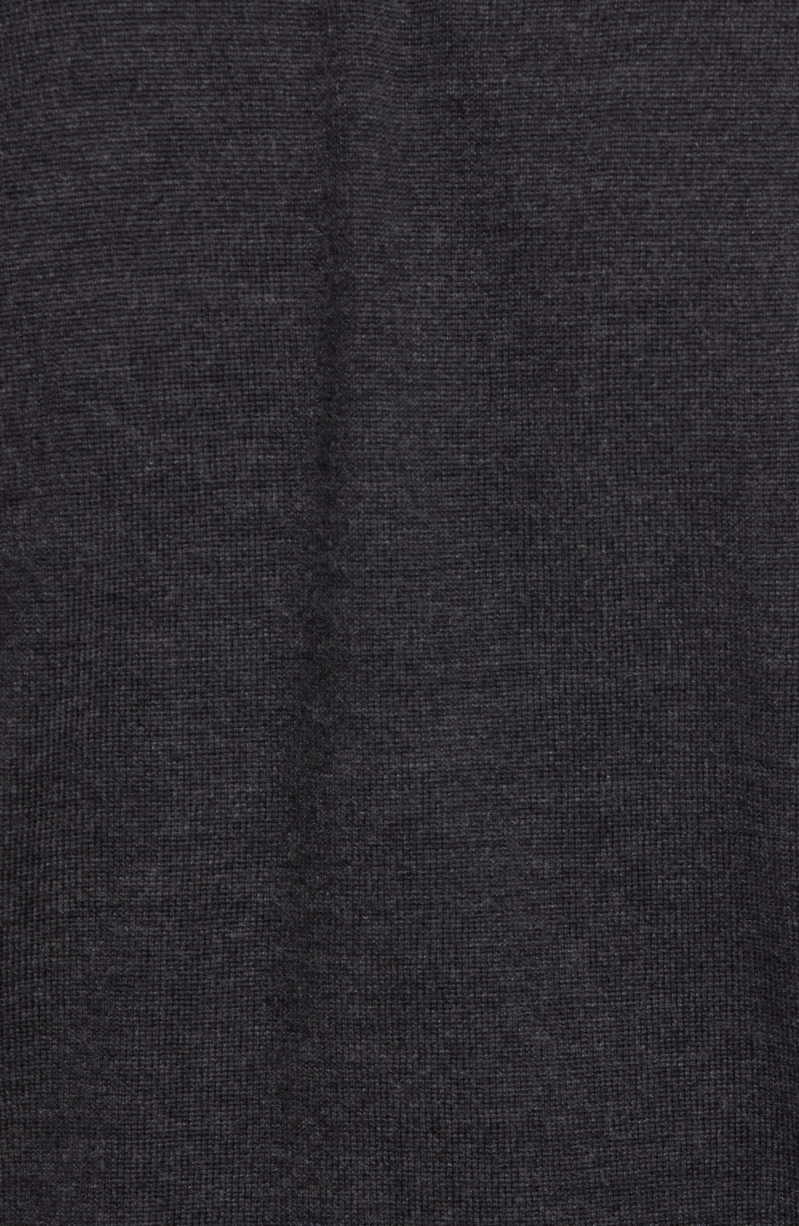 Oversize Plaid Wool Vest,                             Alternate thumbnail 5, color,                             Heather Grey