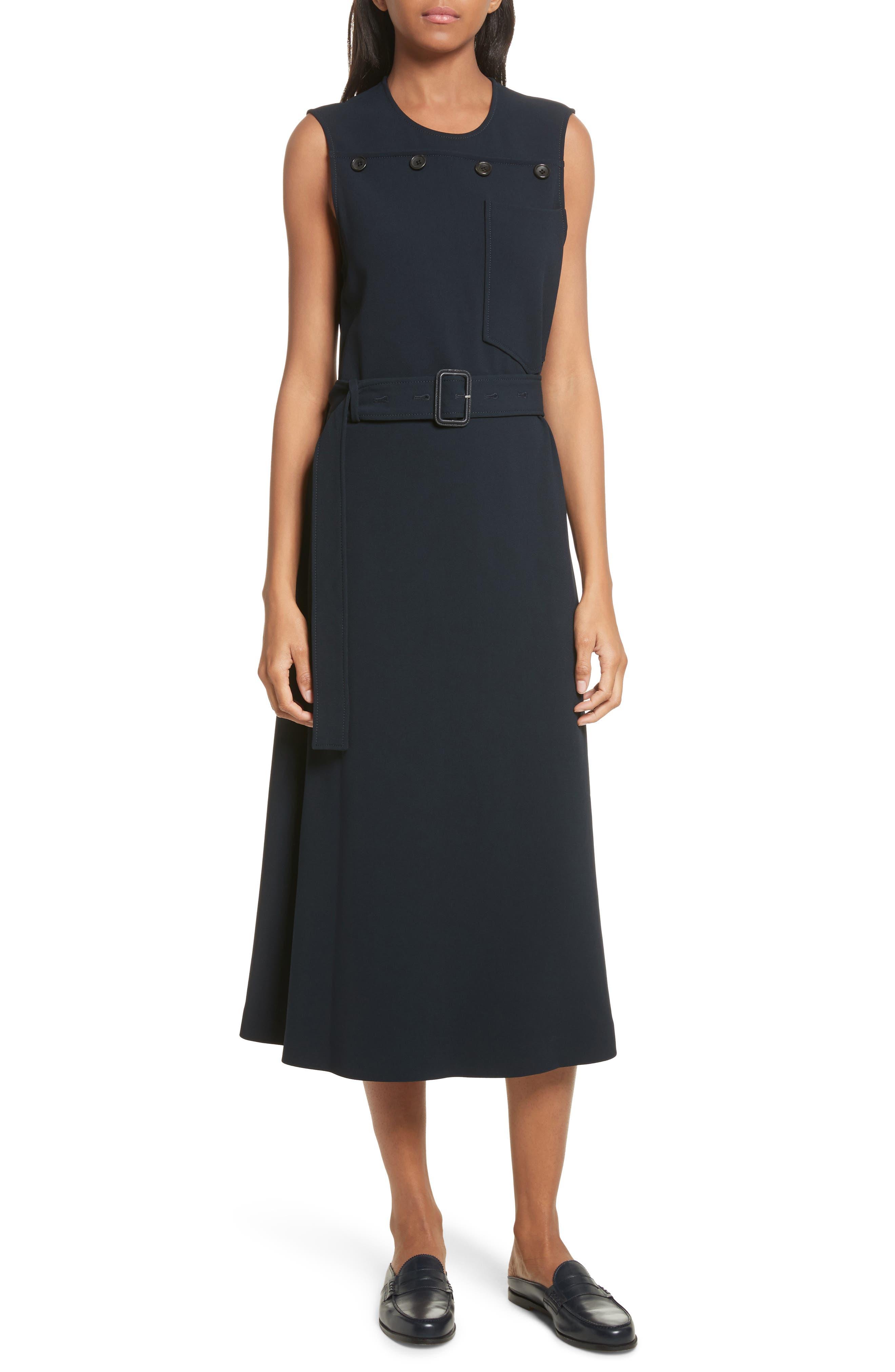 Tessa Heavy Viscose Dress,                         Main,                         color, Navy