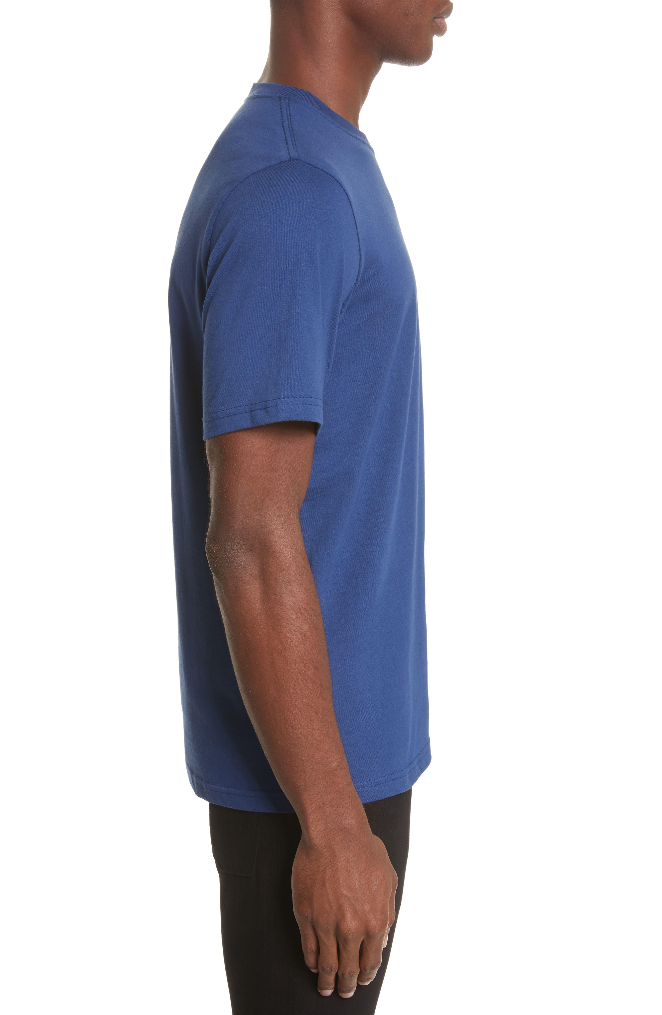 Zebra Logo T-Shirt,                             Alternate thumbnail 3, color,                             Blue