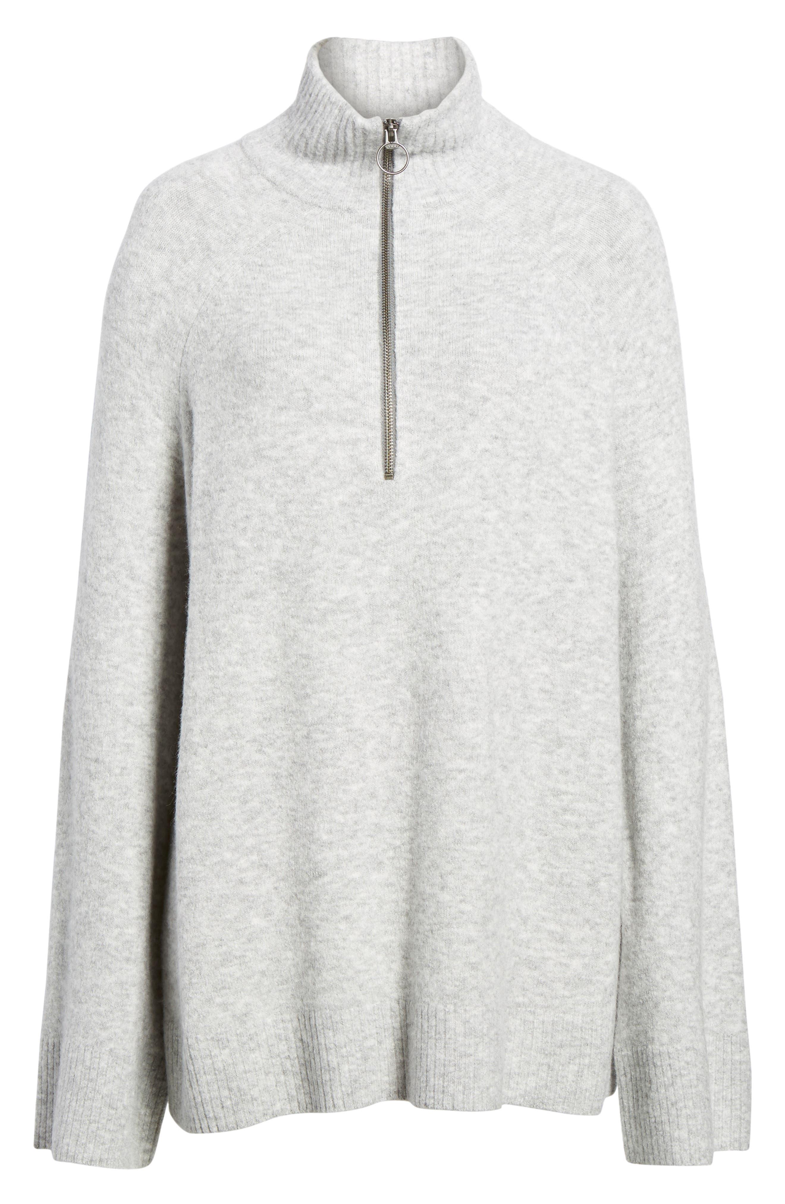 Half Zip Pullover,                             Alternate thumbnail 6, color,                             Grey Heather