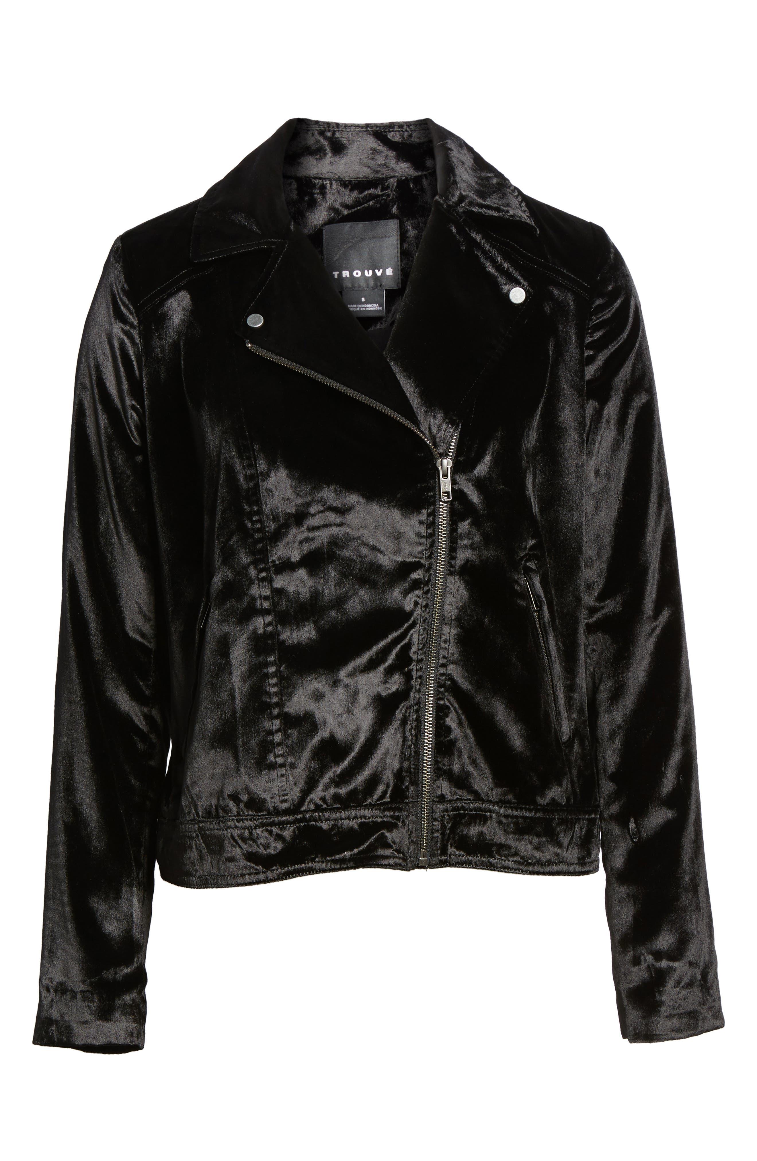 Alternate Image 6  - Trouvé Velvet Moto Jacket