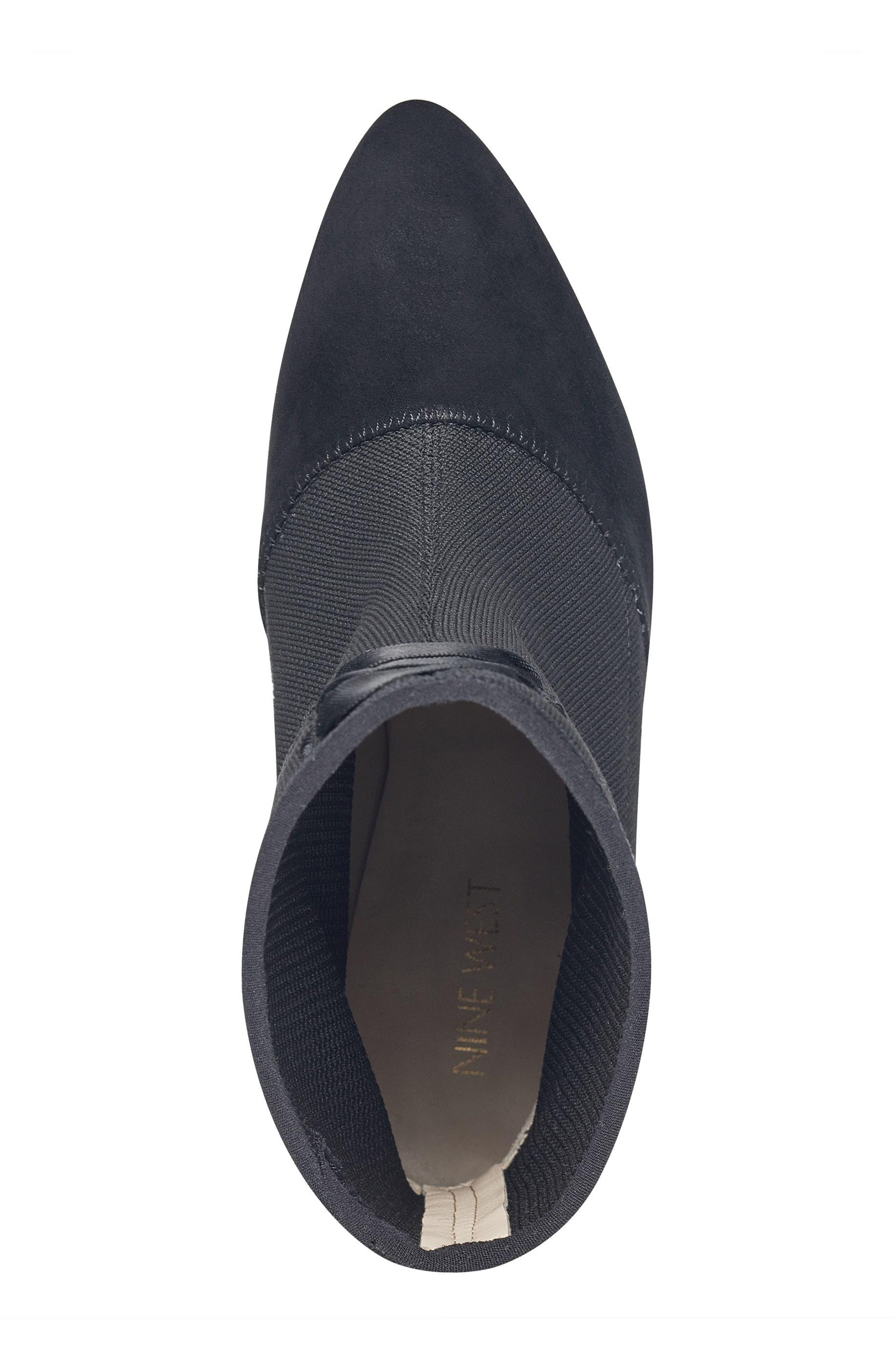 Carolina Pointy Toe Bootie,                             Alternate thumbnail 5, color,                             Black Multi Fabric