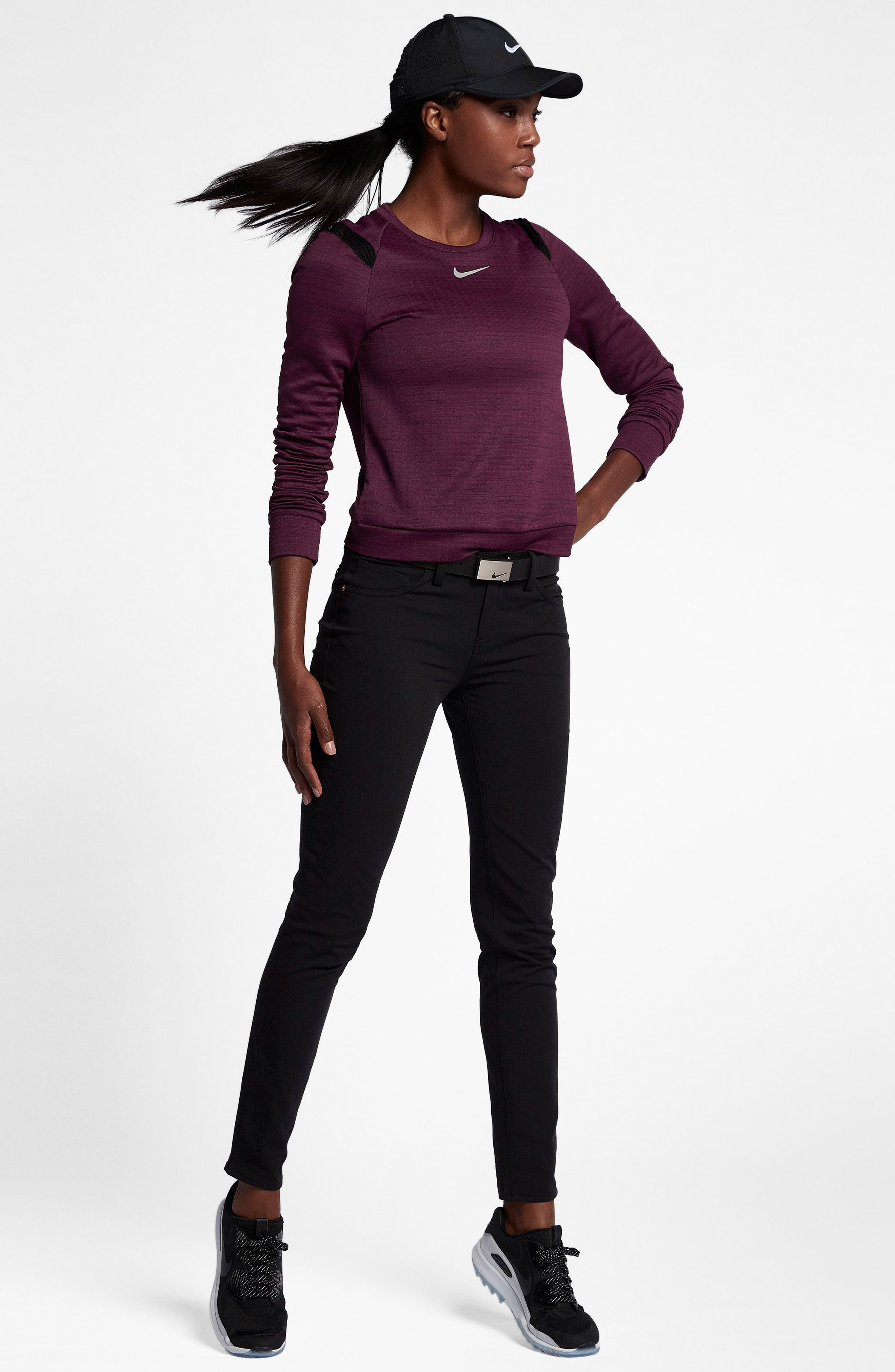Therma Sphere Long Sleeve Top,                             Alternate thumbnail 5, color,                             Burgundy