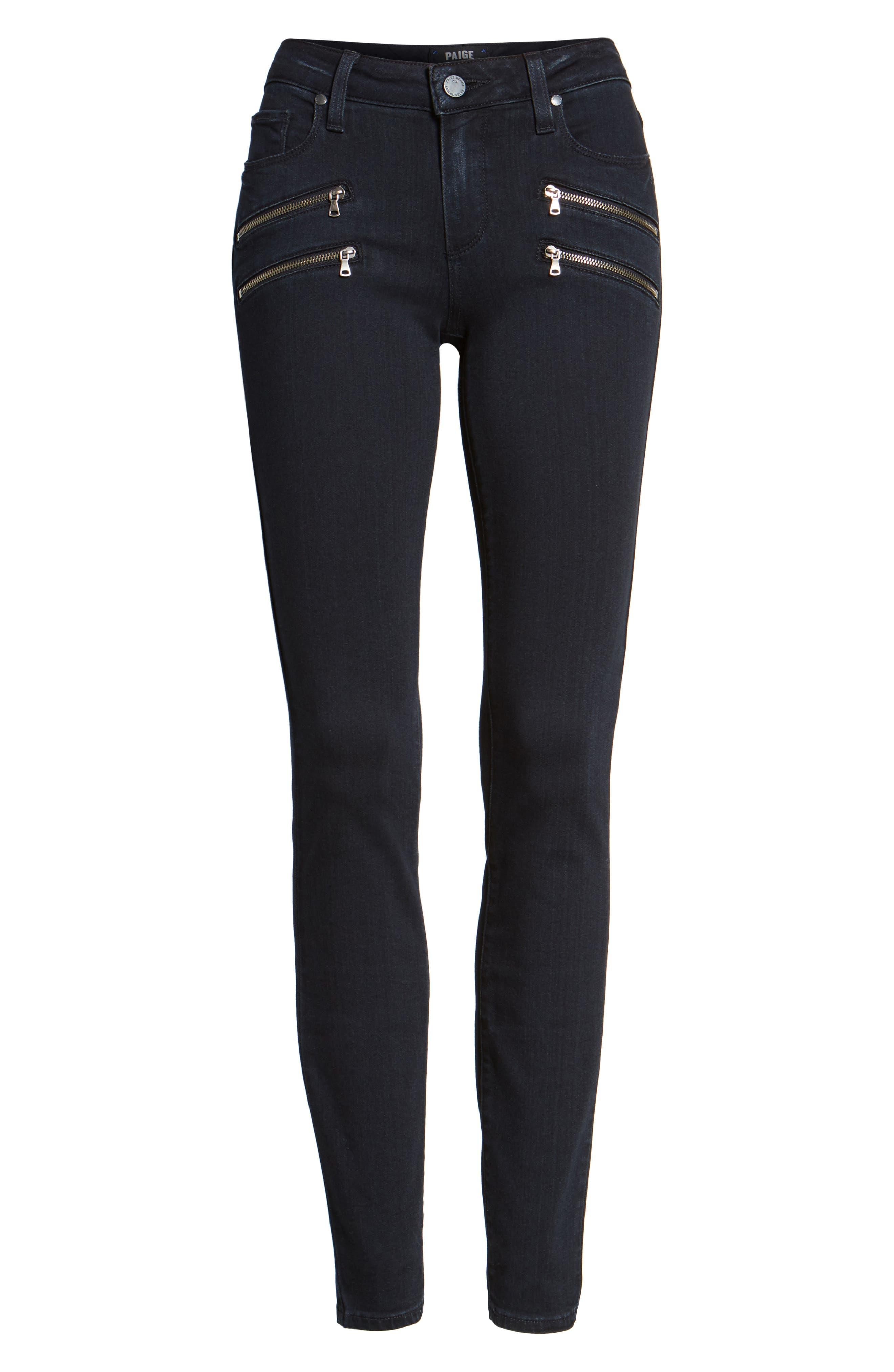 Alternate Image 6  - PAIGE Transcend - Edgemont Ultra Skinny Jeans (Cherie)