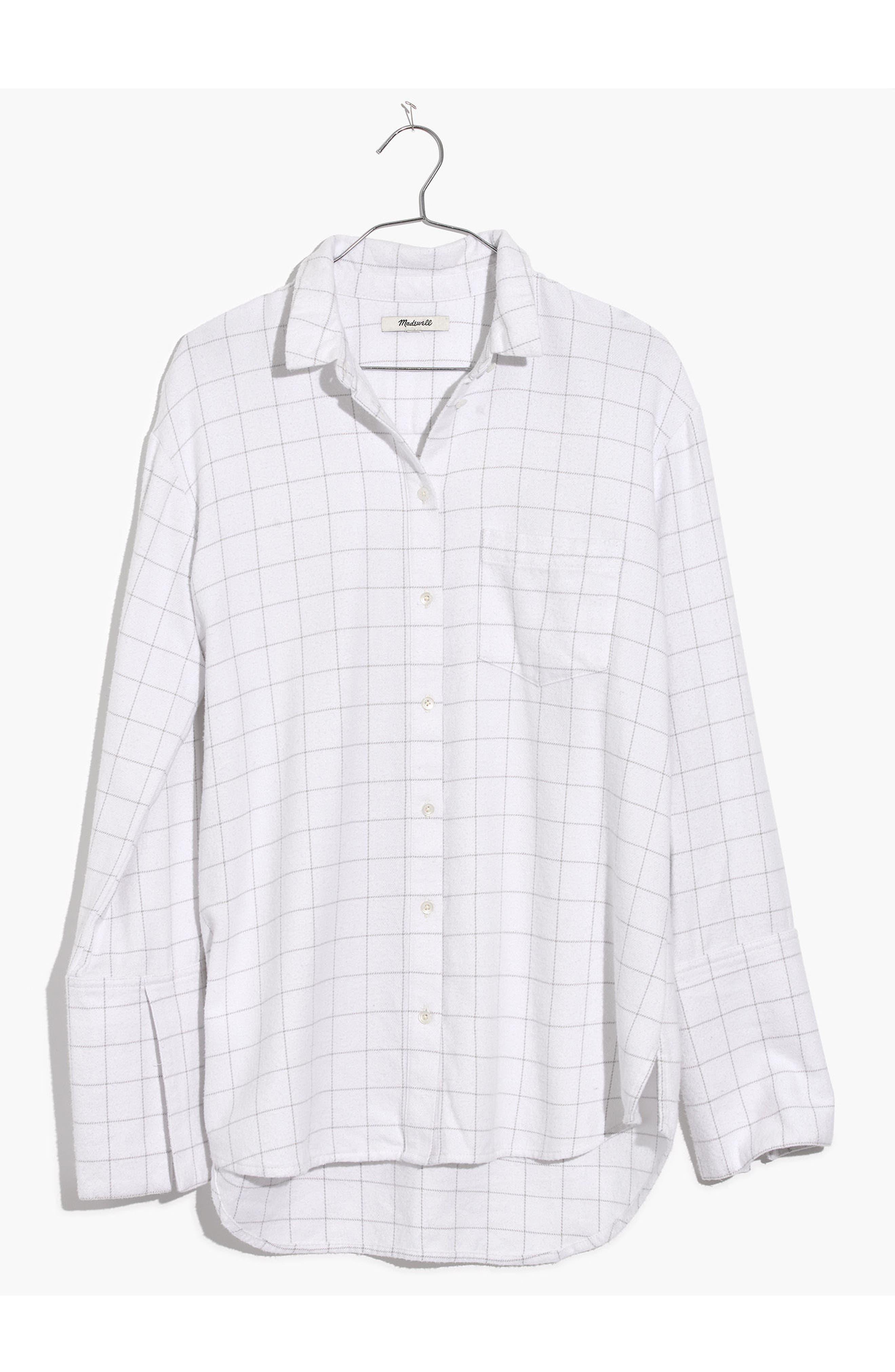 Oversize Ex-Boyfriend Shirt,                             Alternate thumbnail 3, color,                             Thin Bright White