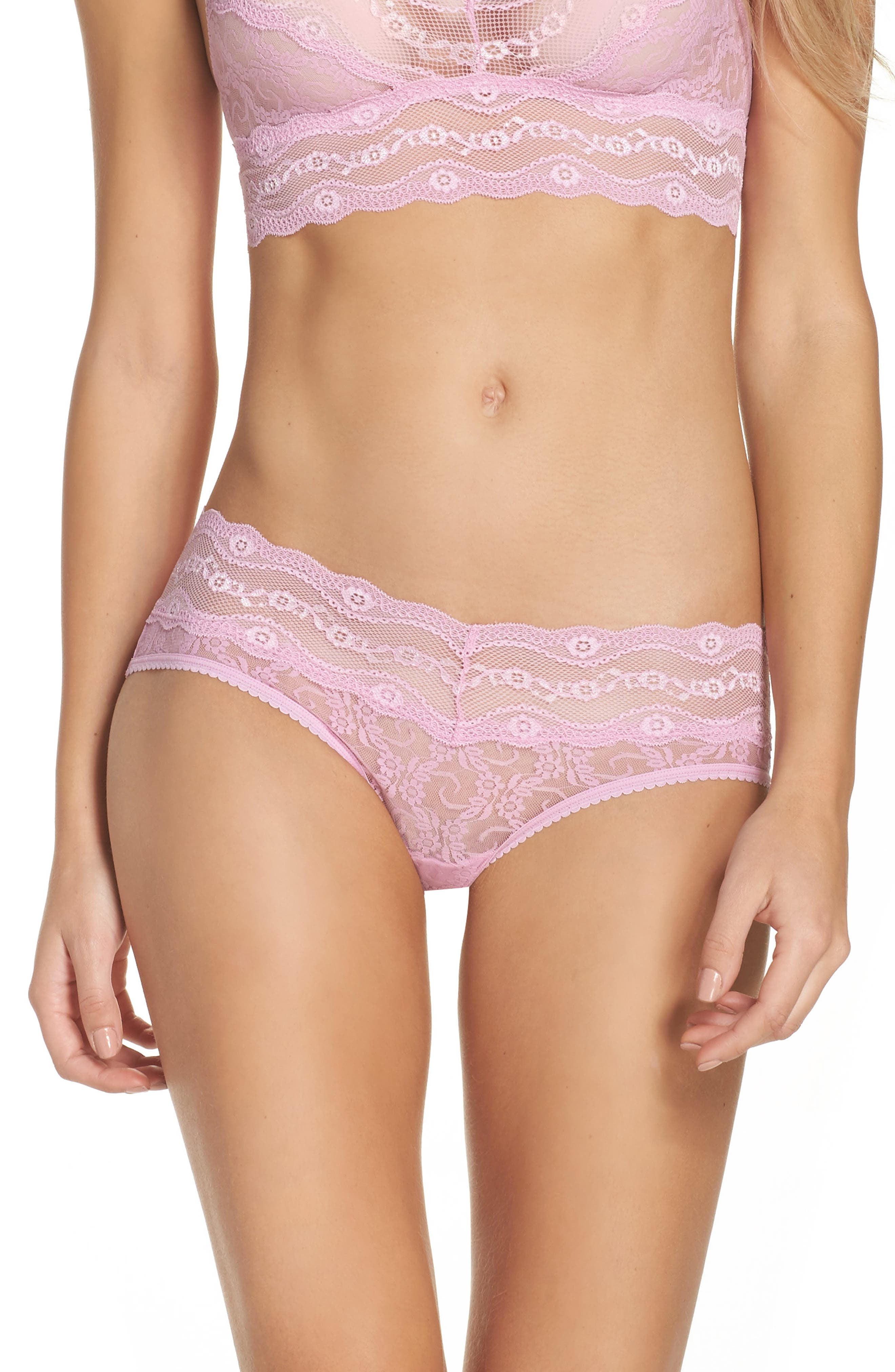 Main Image - b.tempt'd by Wacoal 'Lace Kiss' Hipster Briefs (3 for $33)