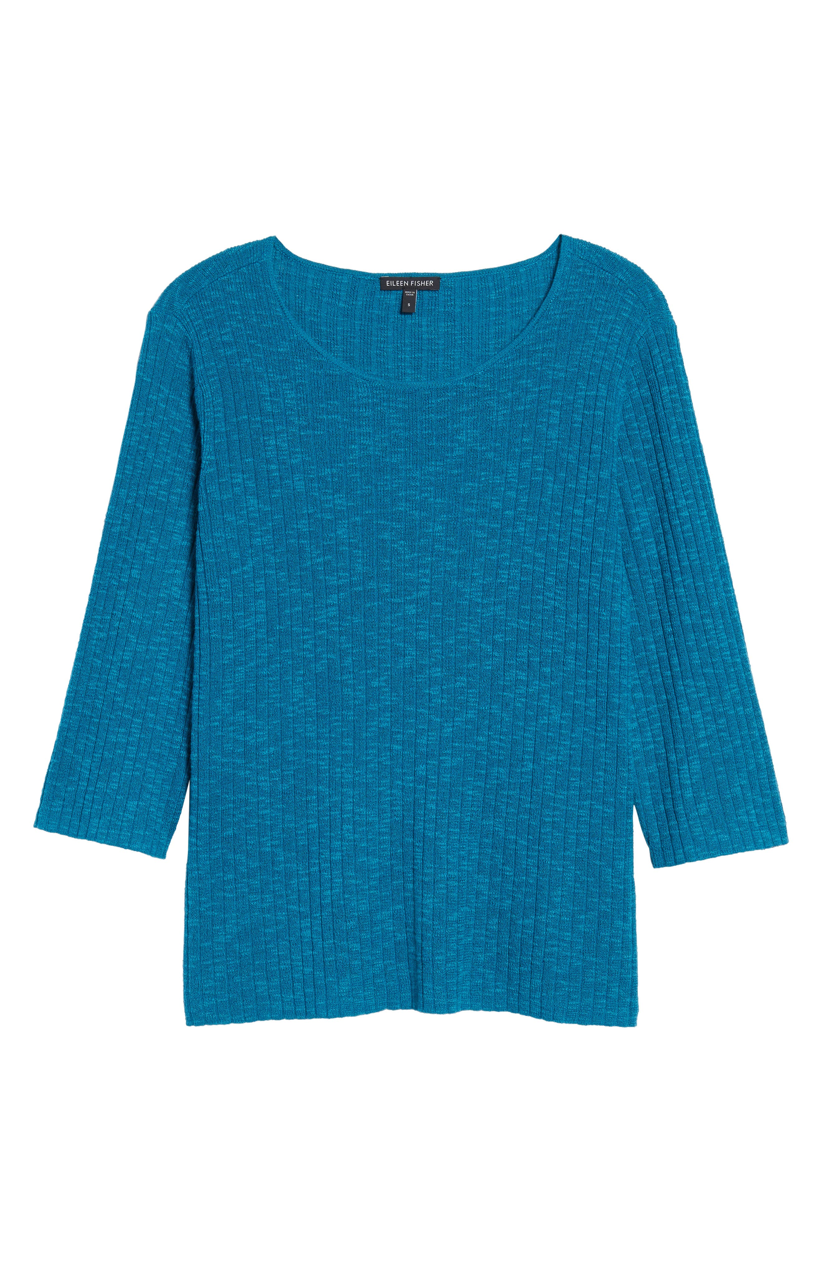 Alternate Image 6  - Eileen Fisher Ribbed Organic Linen & Cotton Sweater