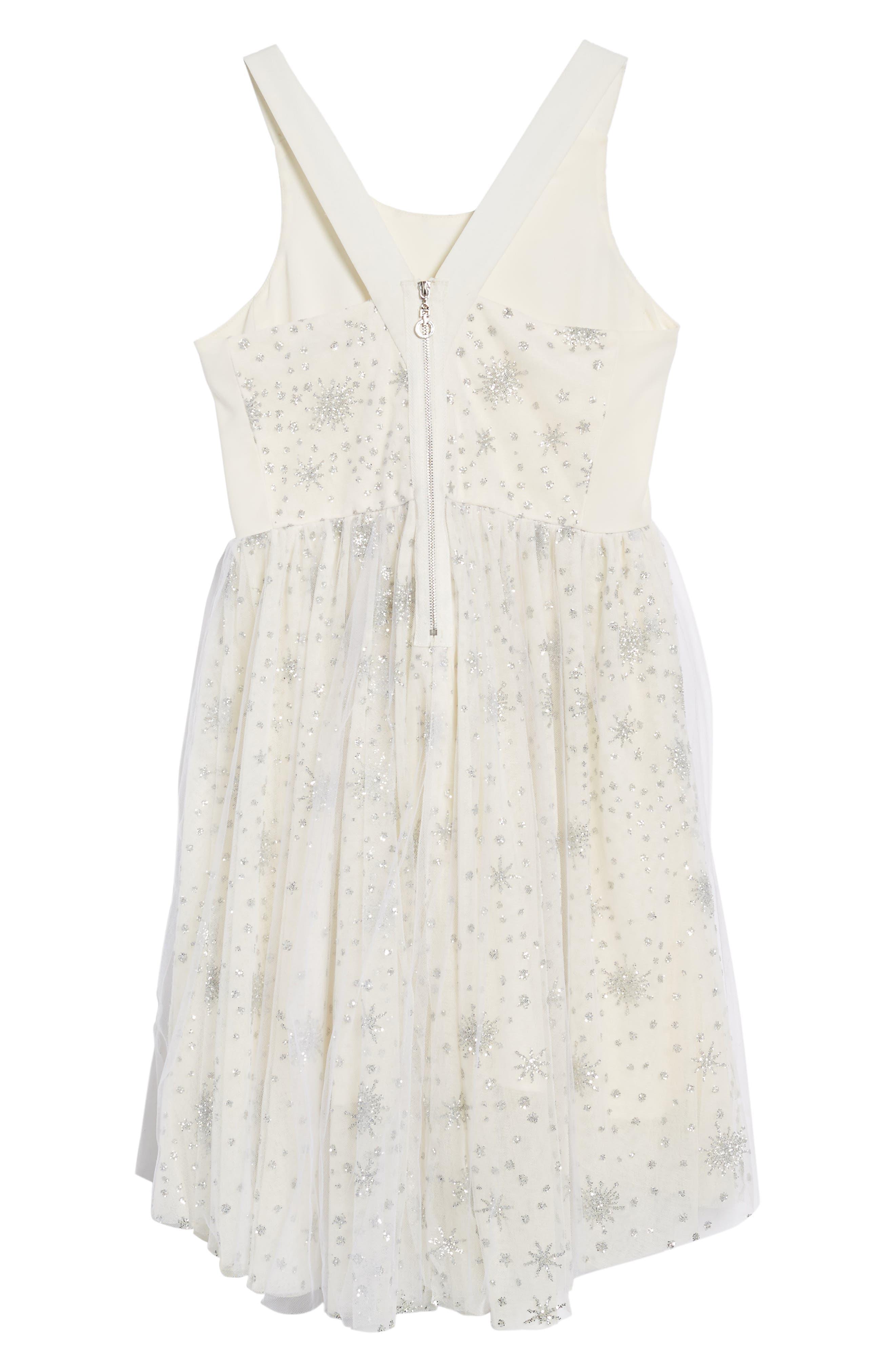 Winter Sparkle Dress,                             Alternate thumbnail 3, color,                             Cream