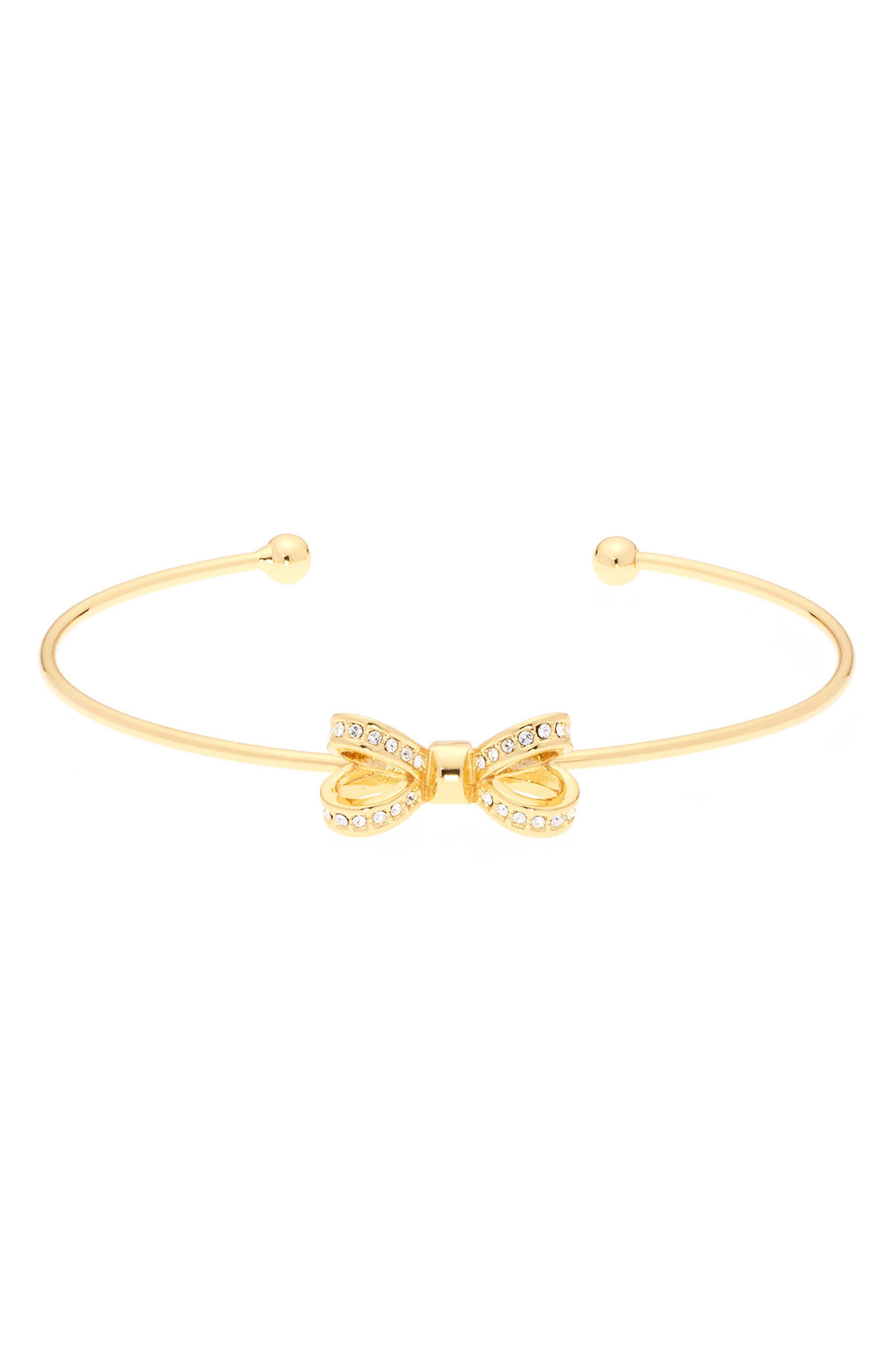 Ted Baker London Mini Opulent Pavé Bow Cuff Bracelet