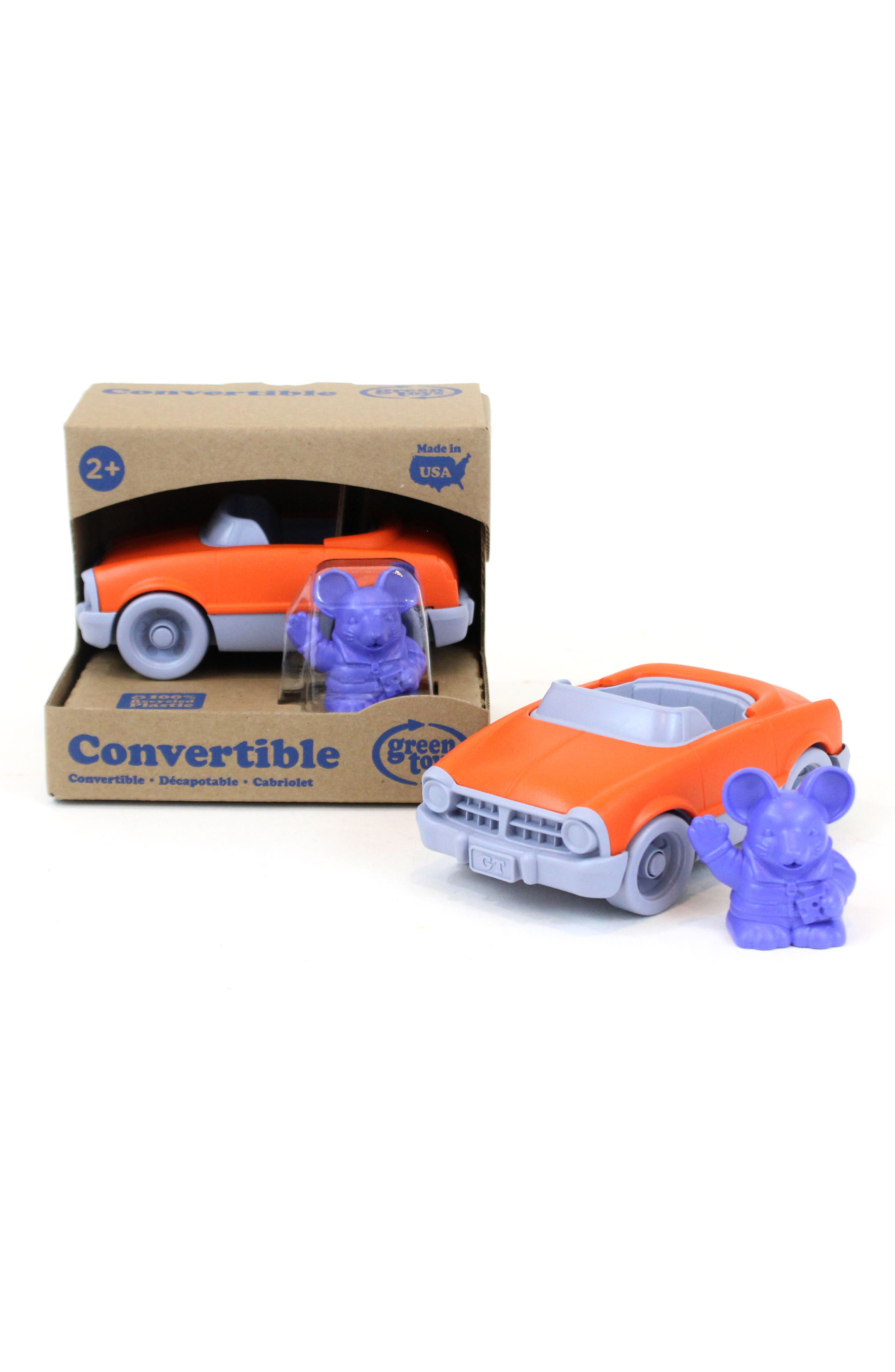 Two-Piece Convertible Car Toy,                         Main,                         color, Orange