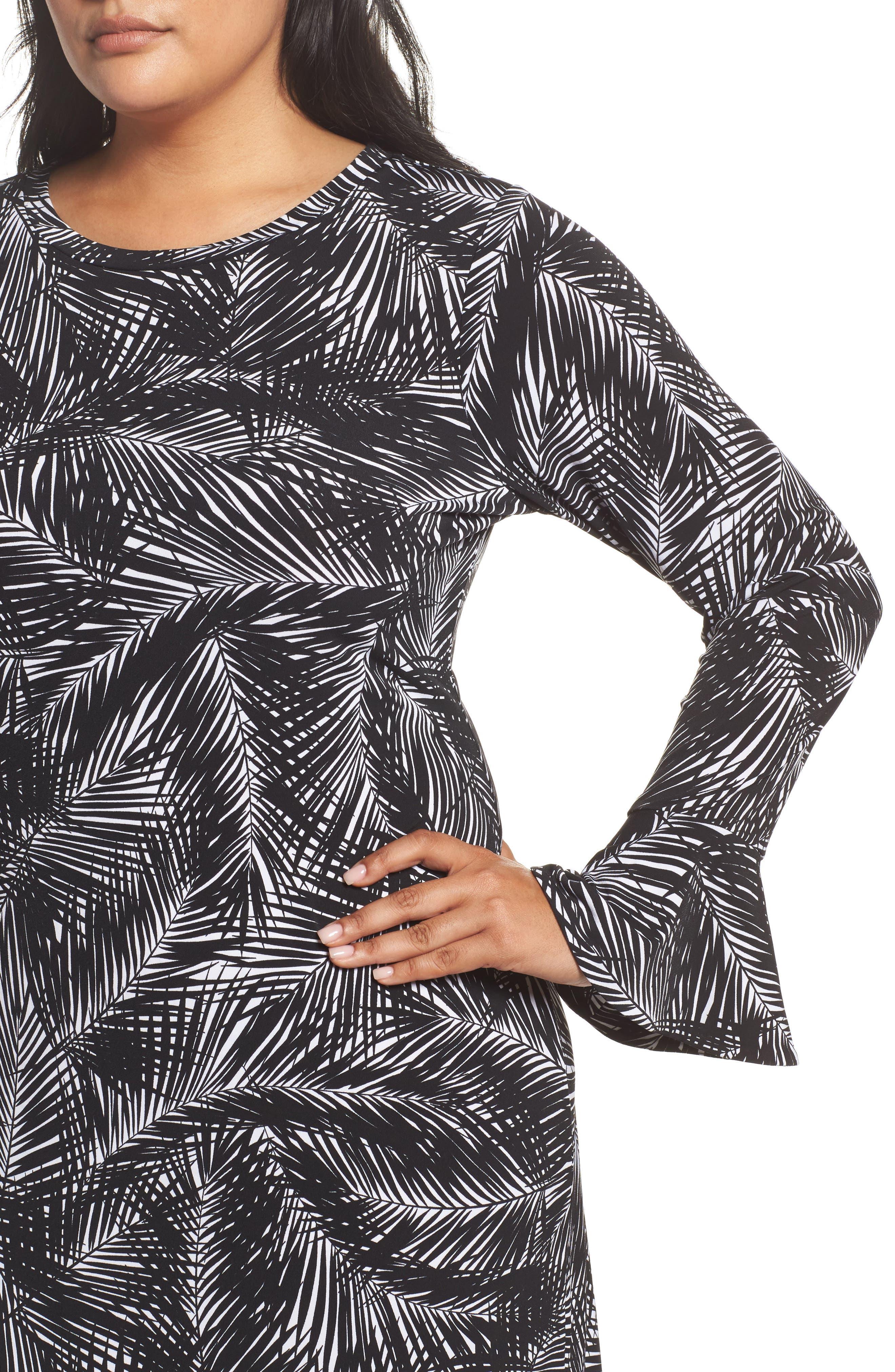 Alternate Image 4  - MICHAEL Michael Kors Abstract Palm Dress (Plus Size)