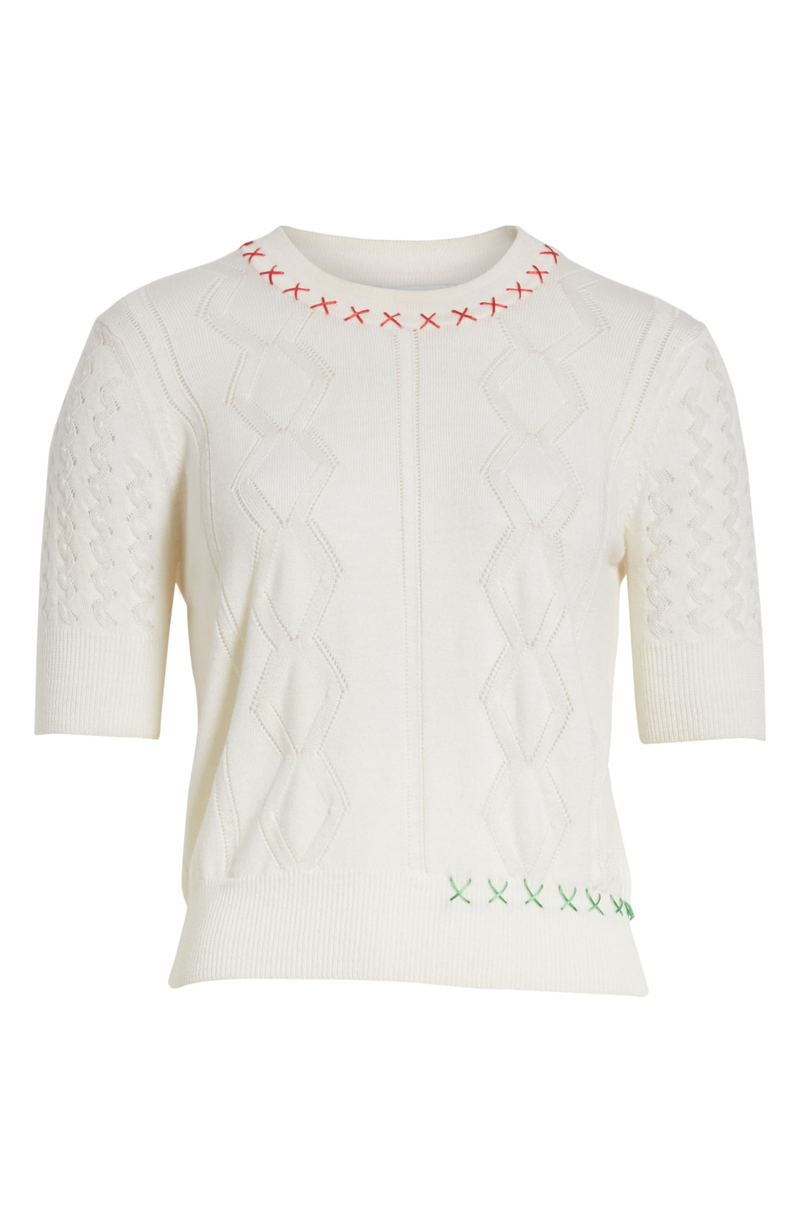 Wool Sweater,                             Alternate thumbnail 7, color,                             Craie