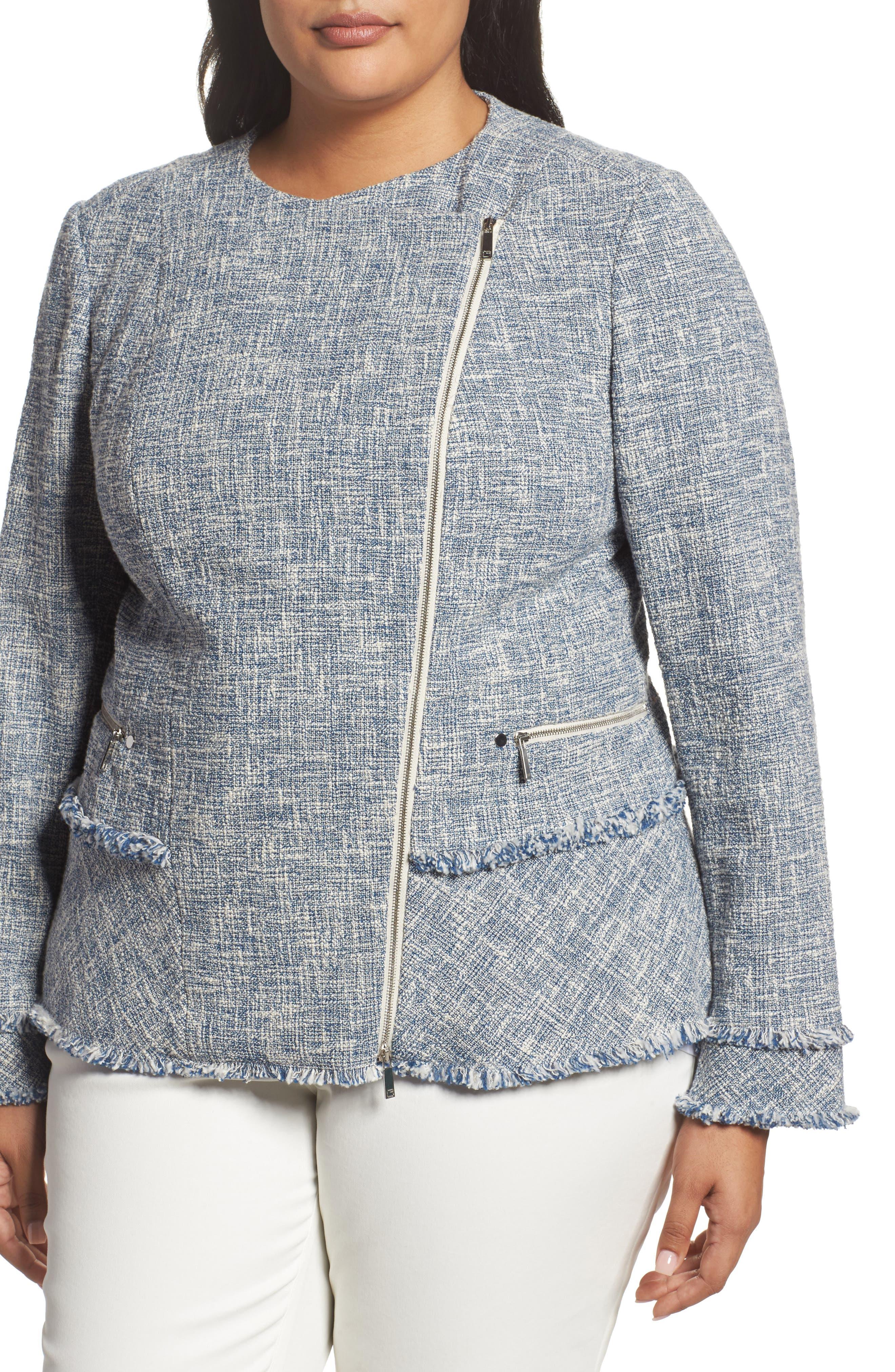 Alternate Image 4  - Lafayette 148 New York Owen Tweed Jacket (Plus Size)