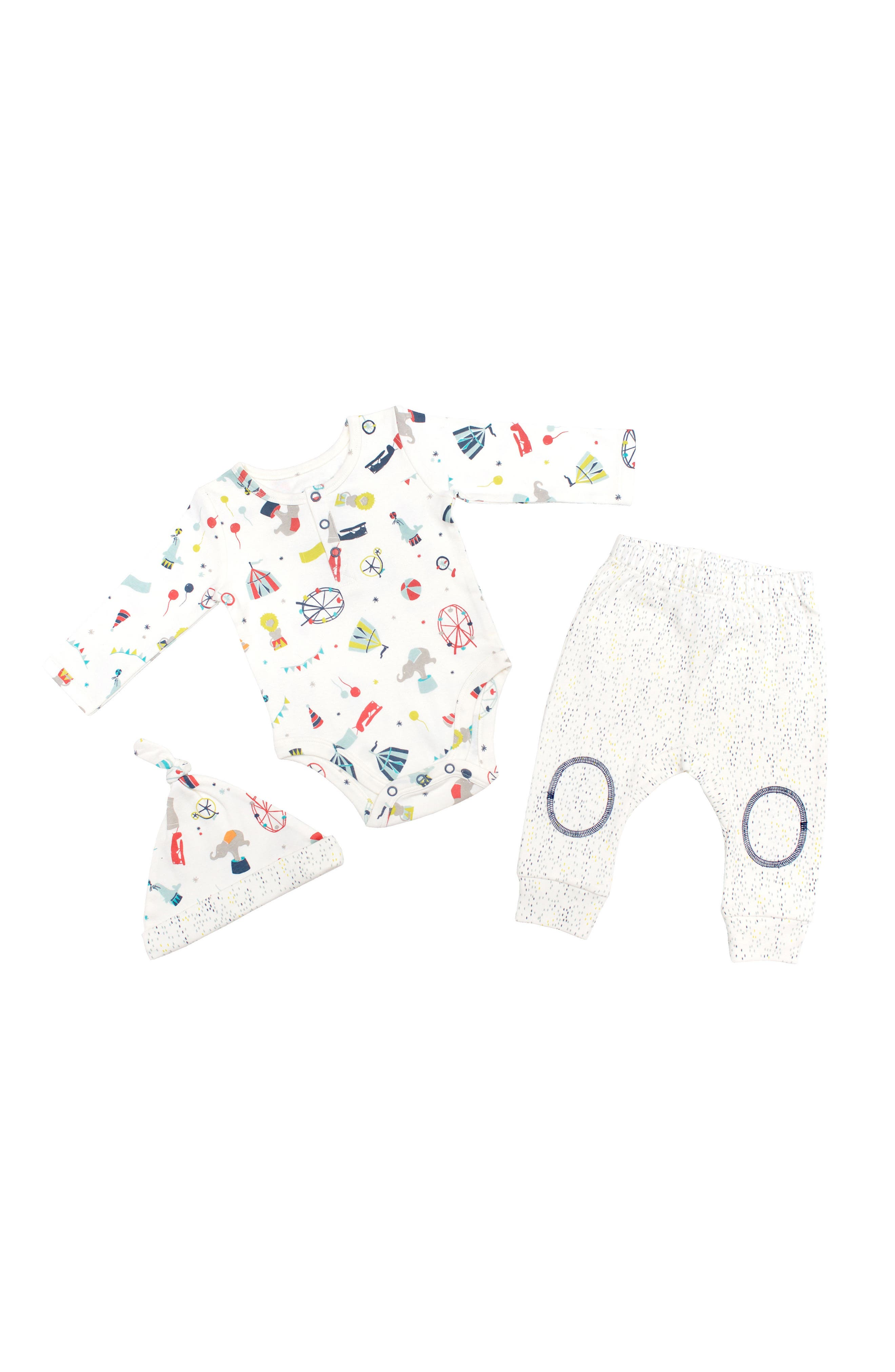 Petit Pehr Big Top Bodysuit, Pants & Hat Set (Baby)