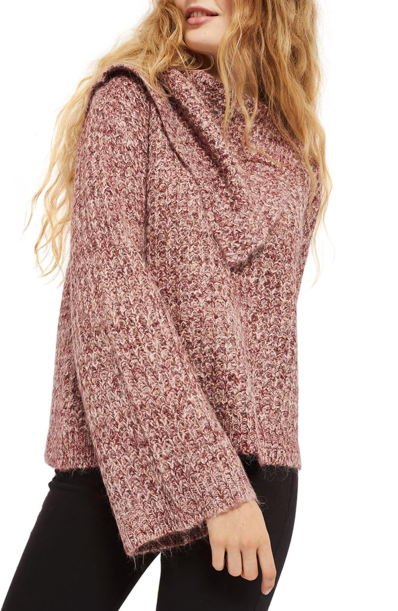 Lofty Envelope Neck Sweater,                         Main,                         color, Pink
