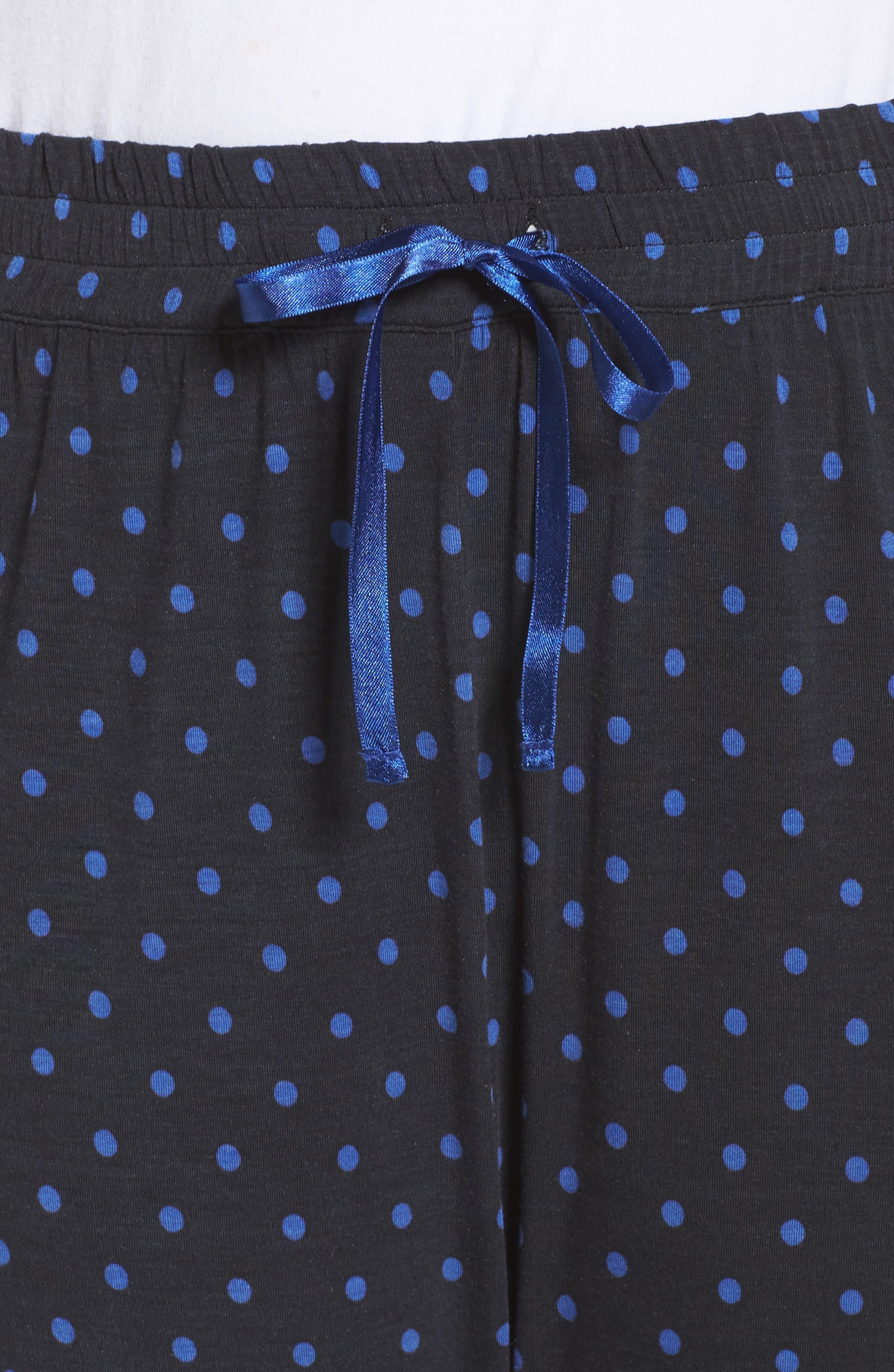Dot Lounge Pants,                             Alternate thumbnail 6, color,                             Black
