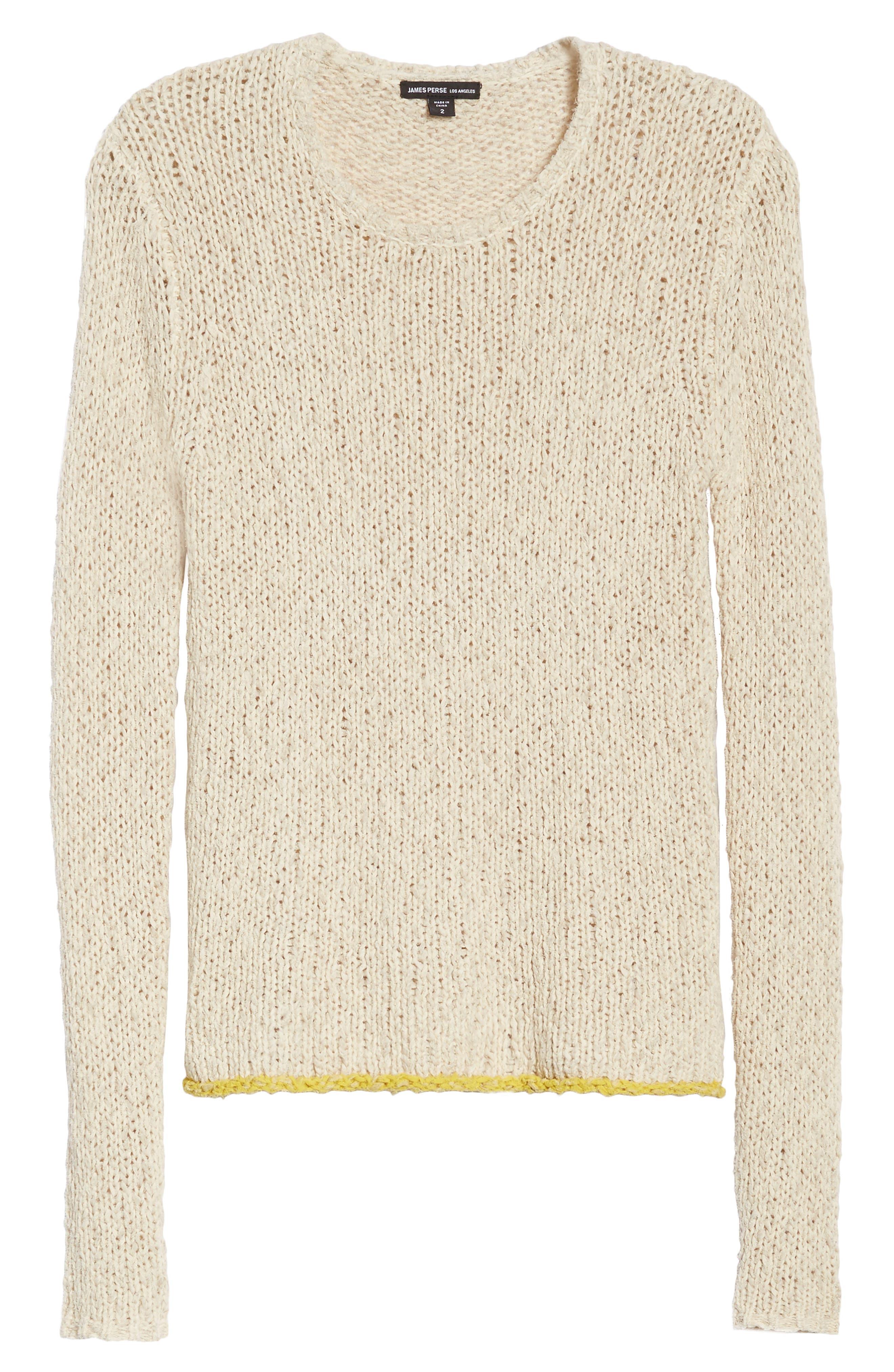 Open Stitch Sweater,                             Alternate thumbnail 6, color,                             Vintage