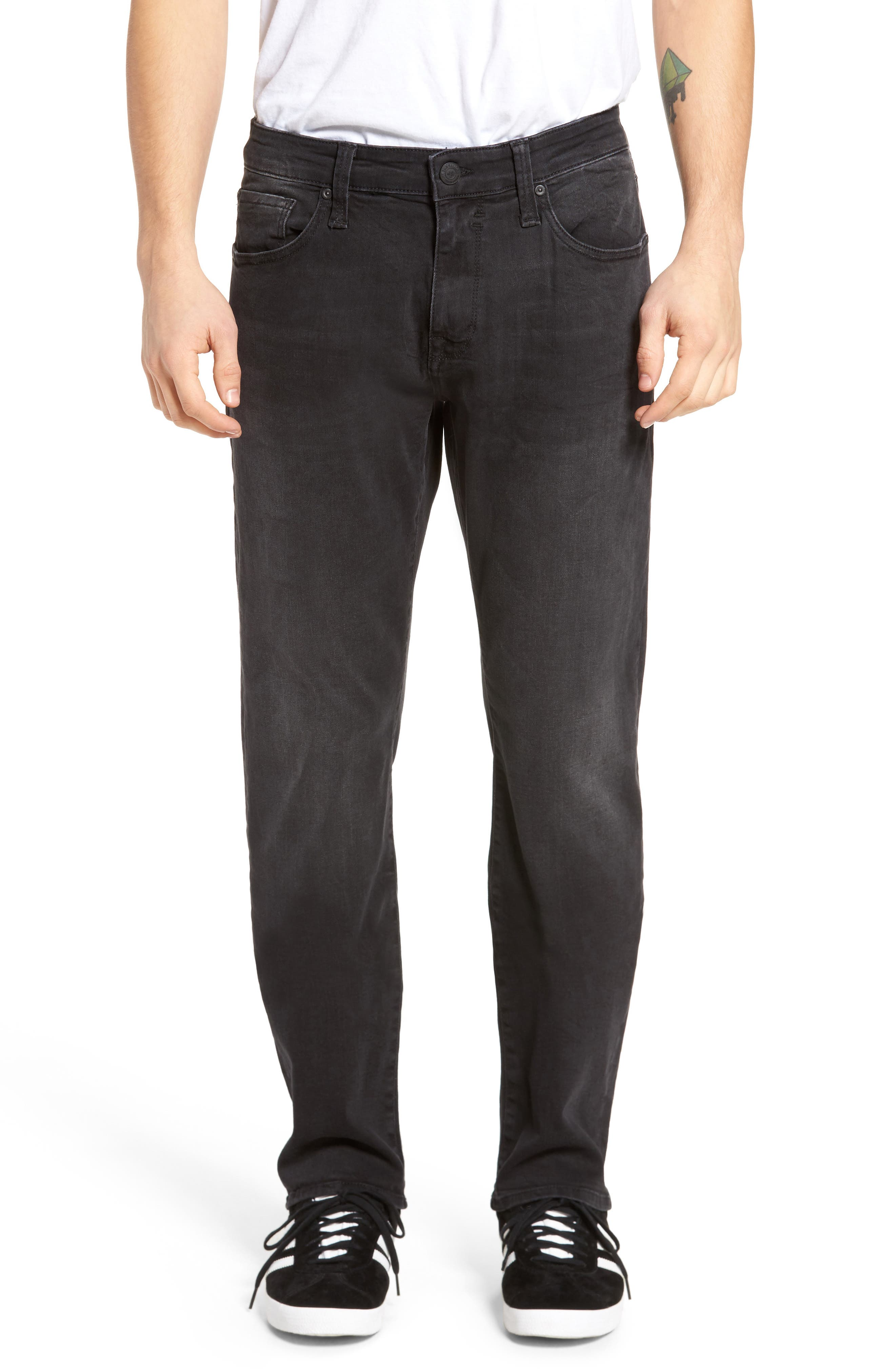 Zach Straight Fit Jeans,                         Main,                         color, Smoke Chelsea