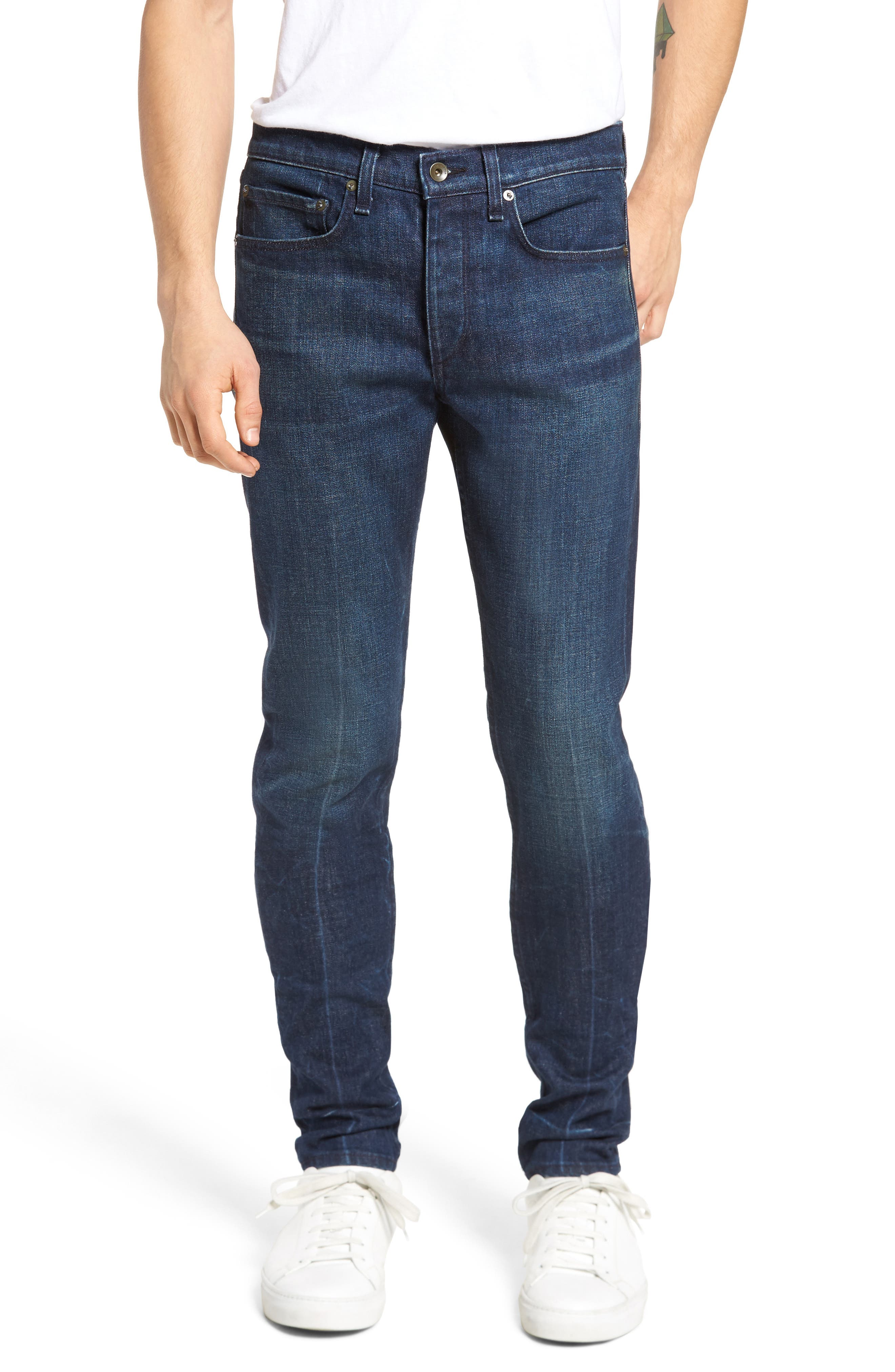 Fit 1 Skinny Fit Jeans,                             Main thumbnail 1, color,                             Snaps