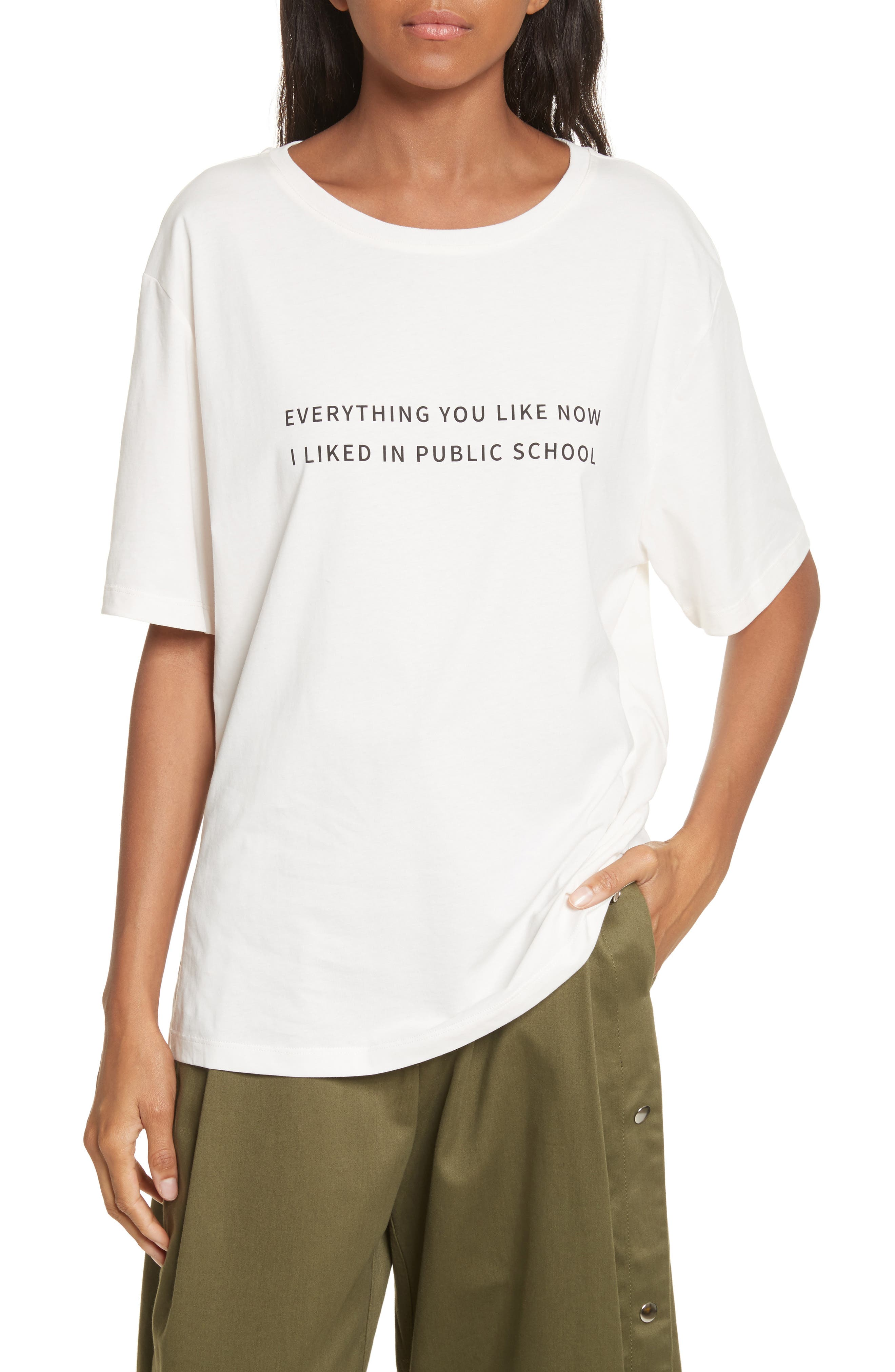 Everything I Like Graphic Tee,                         Main,                         color, Off White