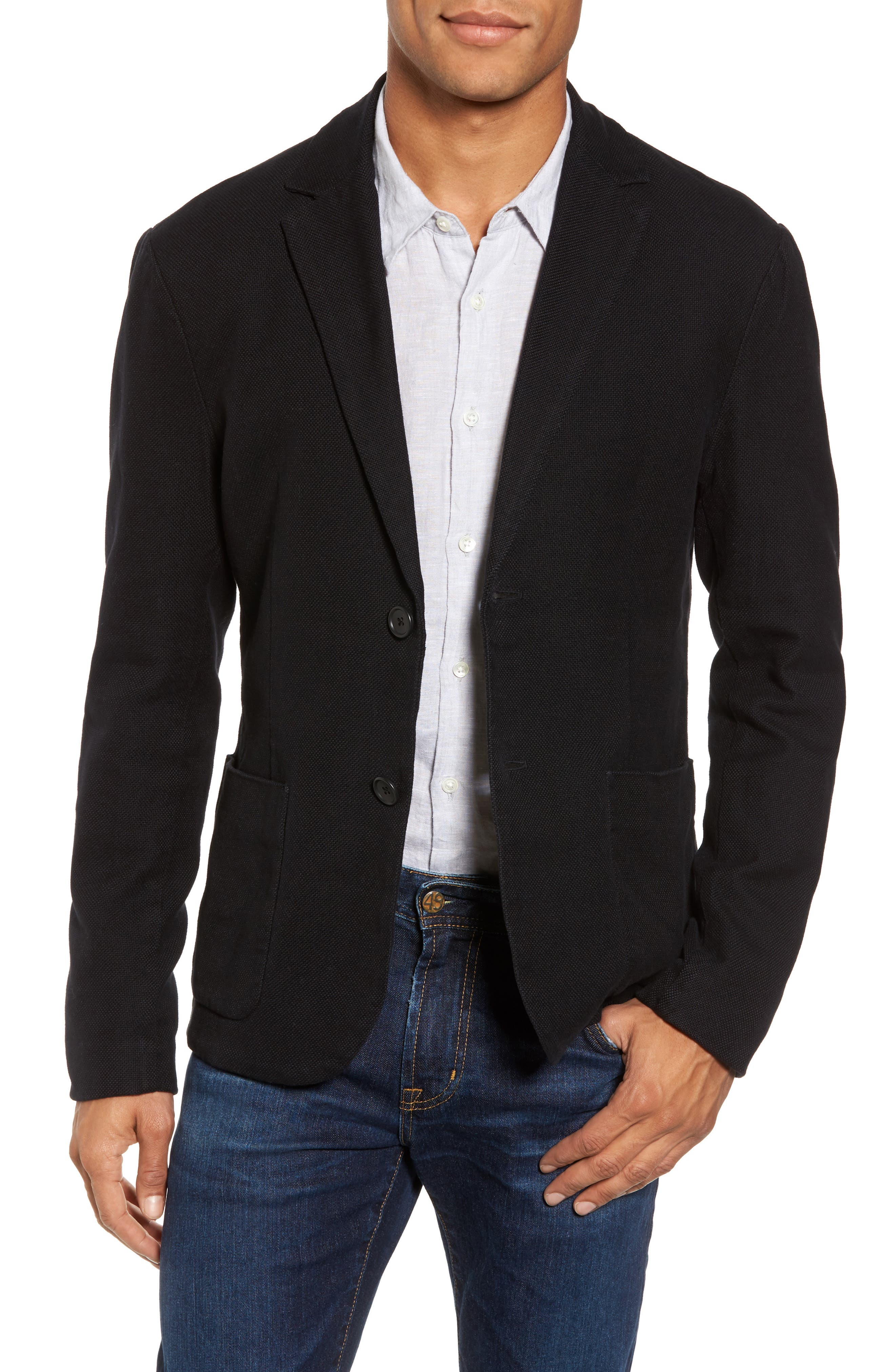 James Perse Basket Weave Blazer