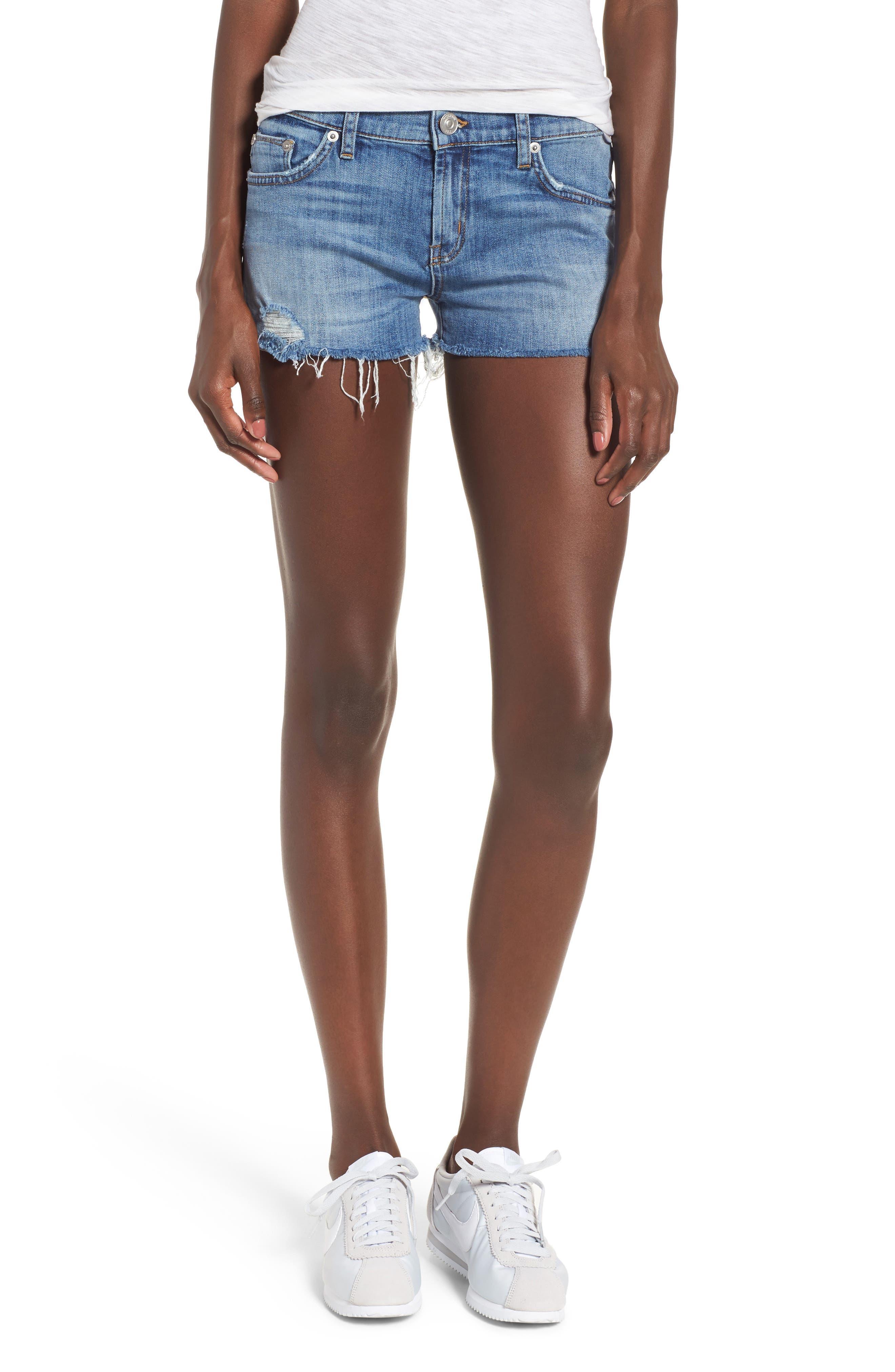 Kenzie Cutoff Denim Shorts,                         Main,                         color, Manic Panic