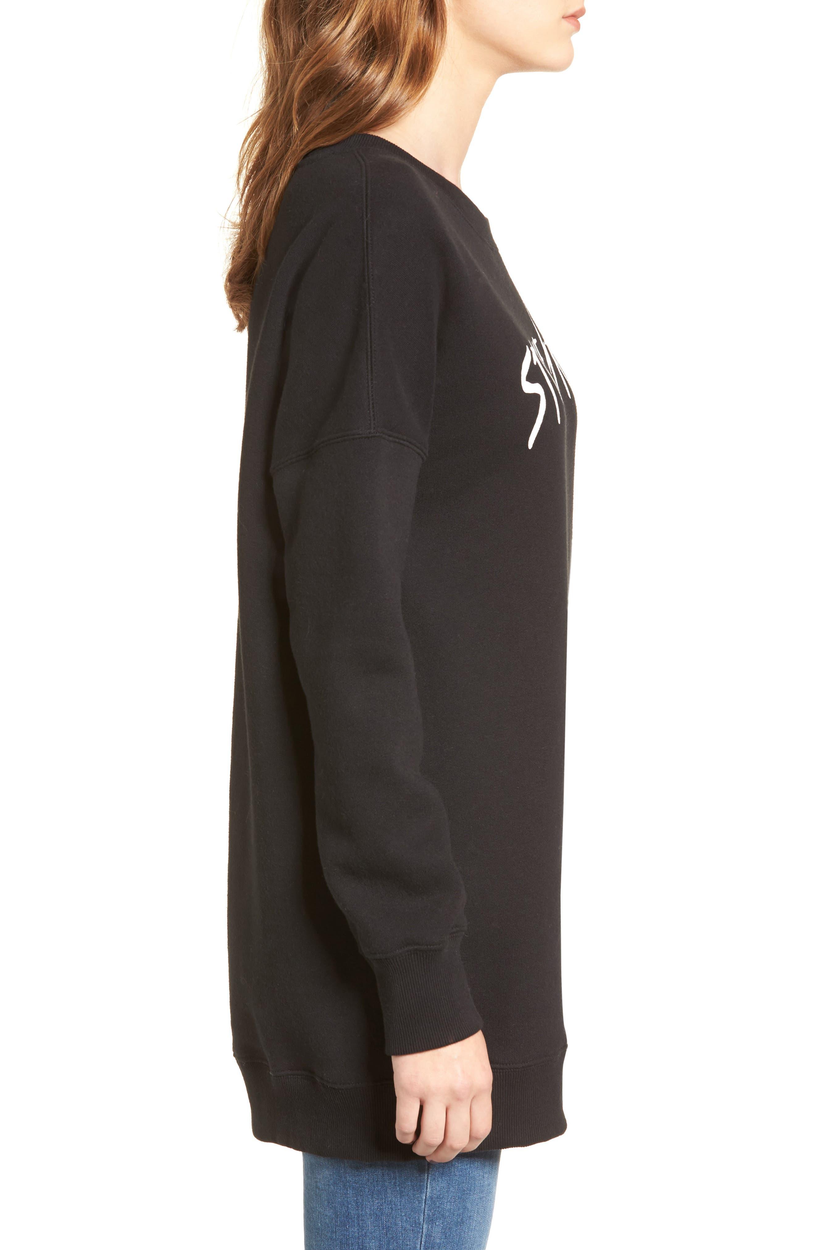 Me Too Sweatshirt,                             Alternate thumbnail 3, color,                             Black